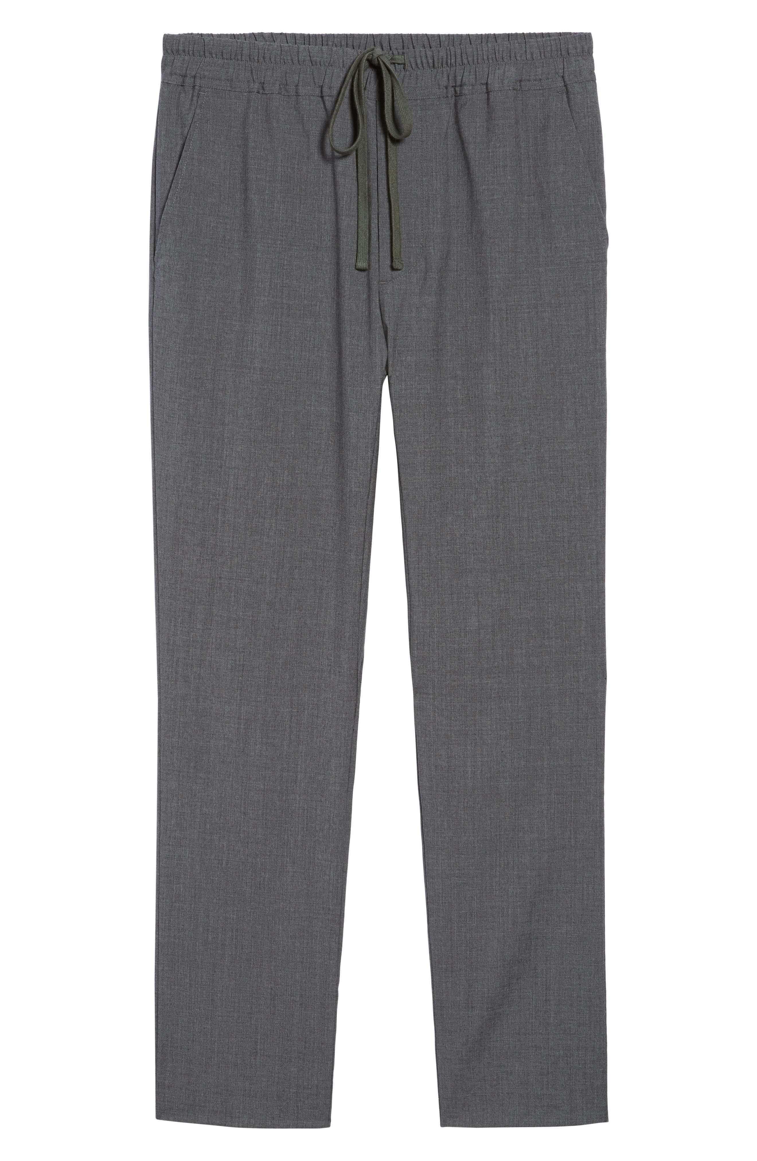 Slim Fit Five-Pocket Pants,                             Alternate thumbnail 6, color,                             Charcoal