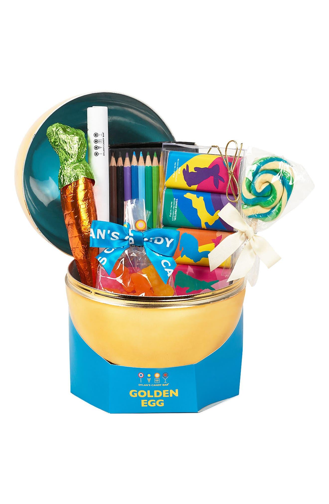 Dylan's Candy Bar Golden Egg Gift Basket
