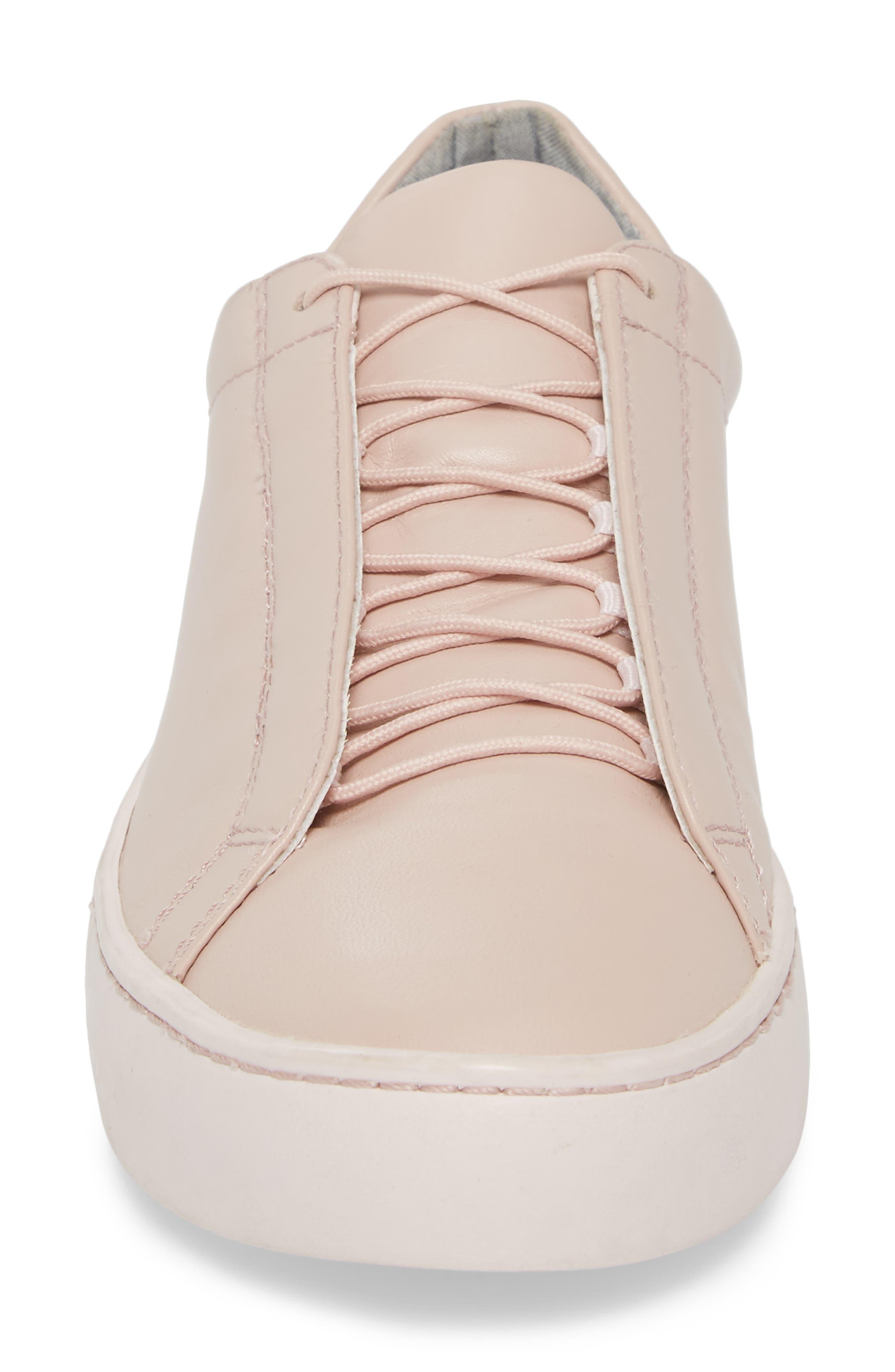 Zoe Sneaker,                             Alternate thumbnail 4, color,                             Milkshake Leather