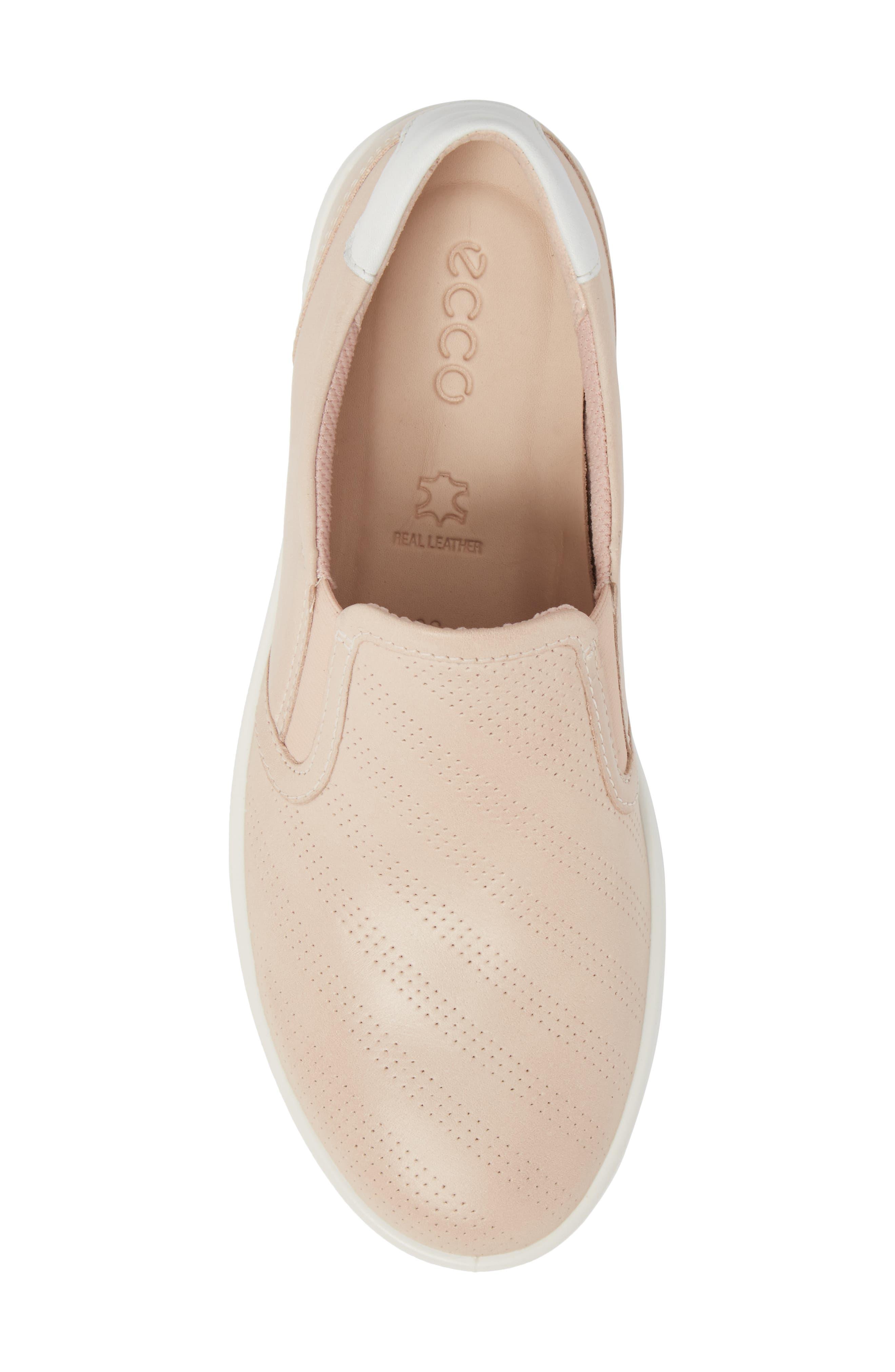 'Aimee' Slip-On Sneaker,                             Alternate thumbnail 5, color,                             Rose Dust Leather