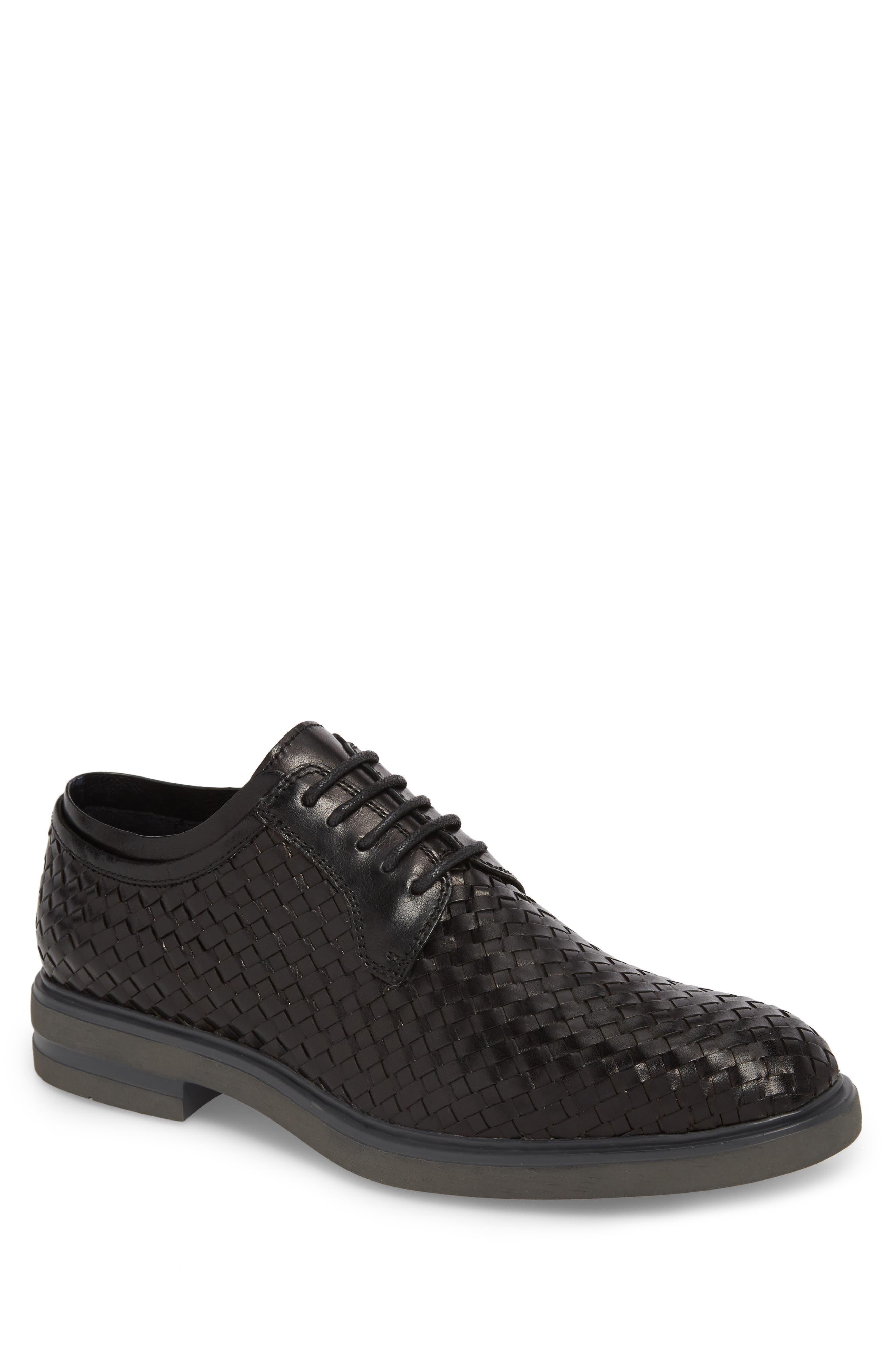 Eloi woven Derby,                         Main,                         color, Black Leather