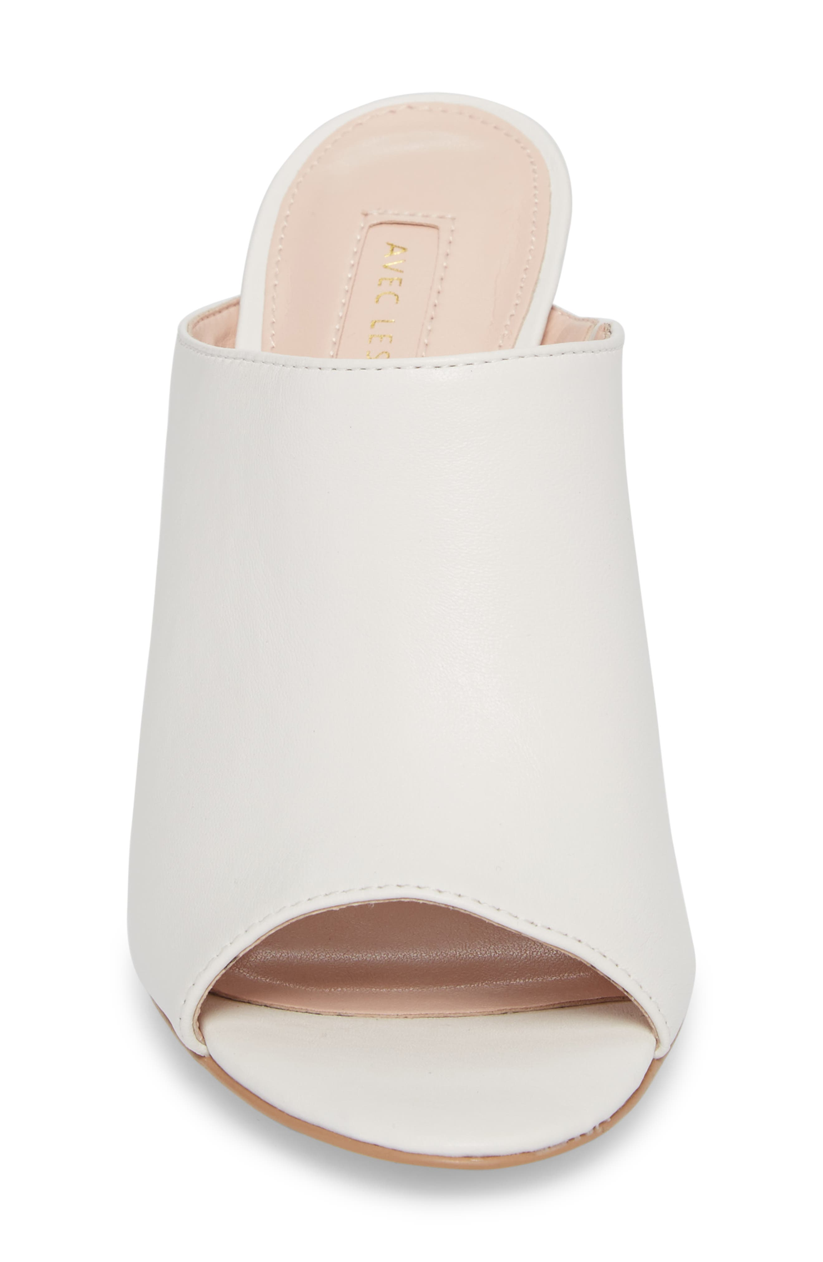 Jazz Off Sandal,                             Alternate thumbnail 4, color,                             Off White Leather