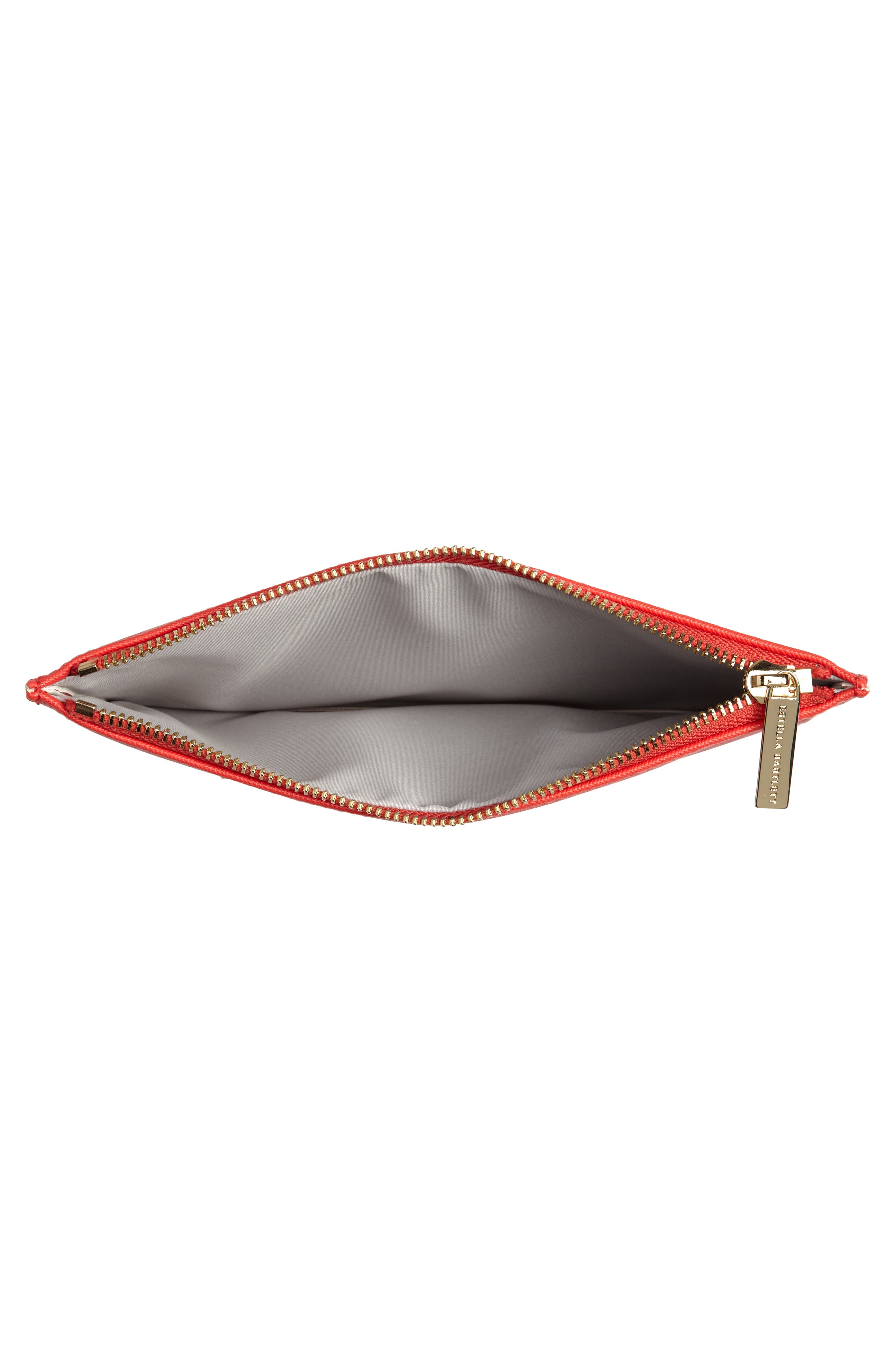 XOXO Medium Faux Leather Pouch,                             Alternate thumbnail 4, color,                             Red