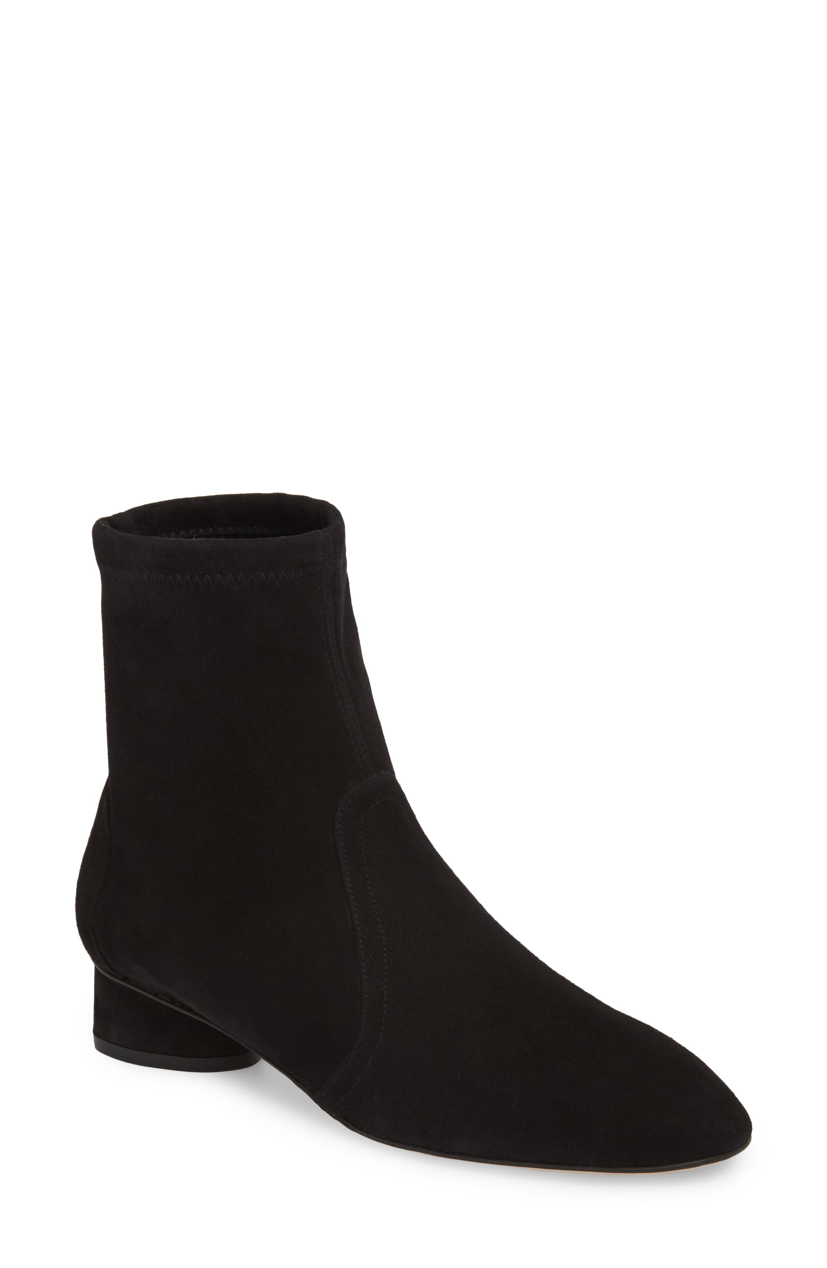 Quebec Bootie,                         Main,                         color, Black Luxe Suede