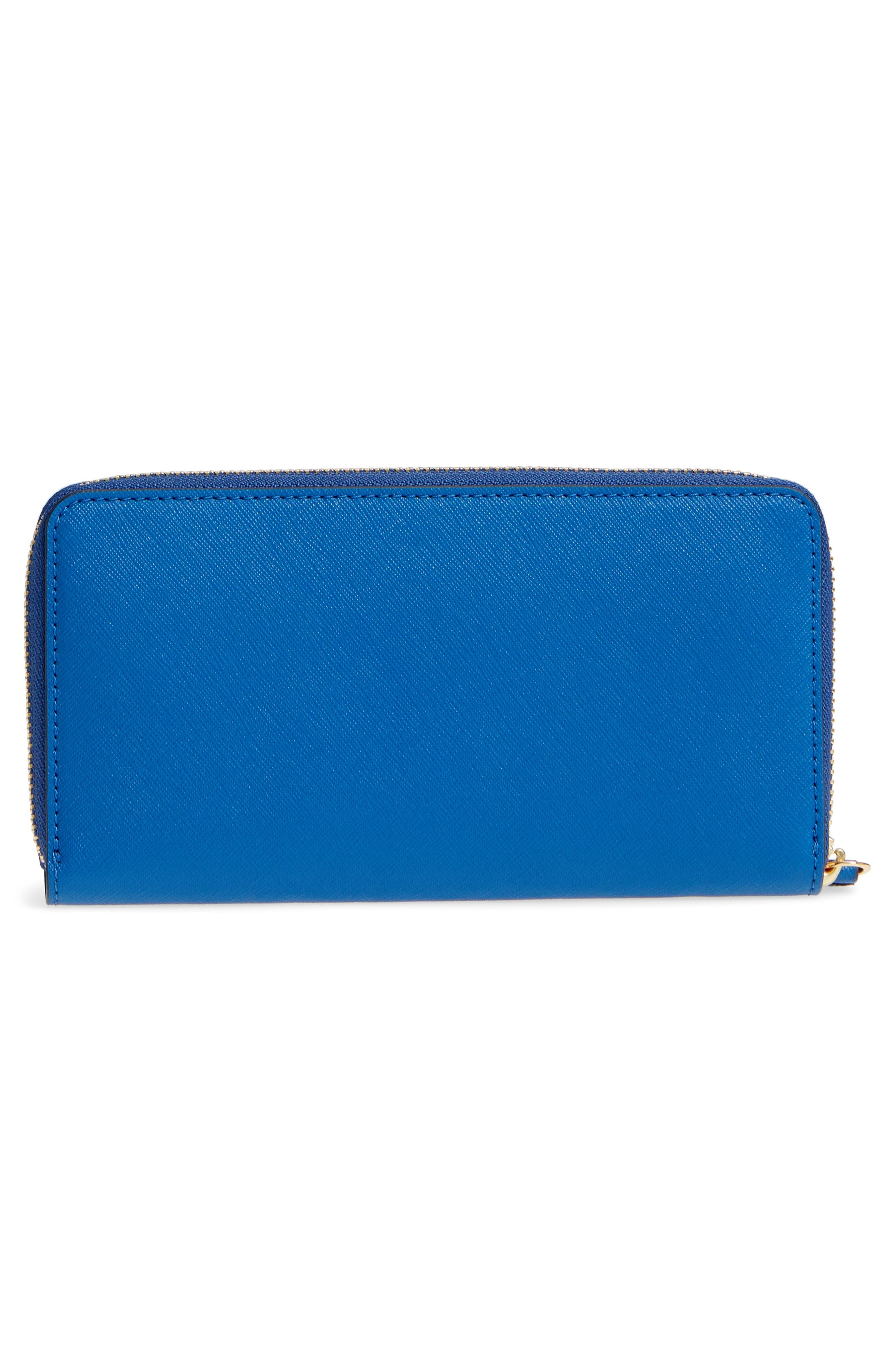 Robinson Zip Continental Wallet,                             Alternate thumbnail 4, color,                             Regal Blue / Royal Navy