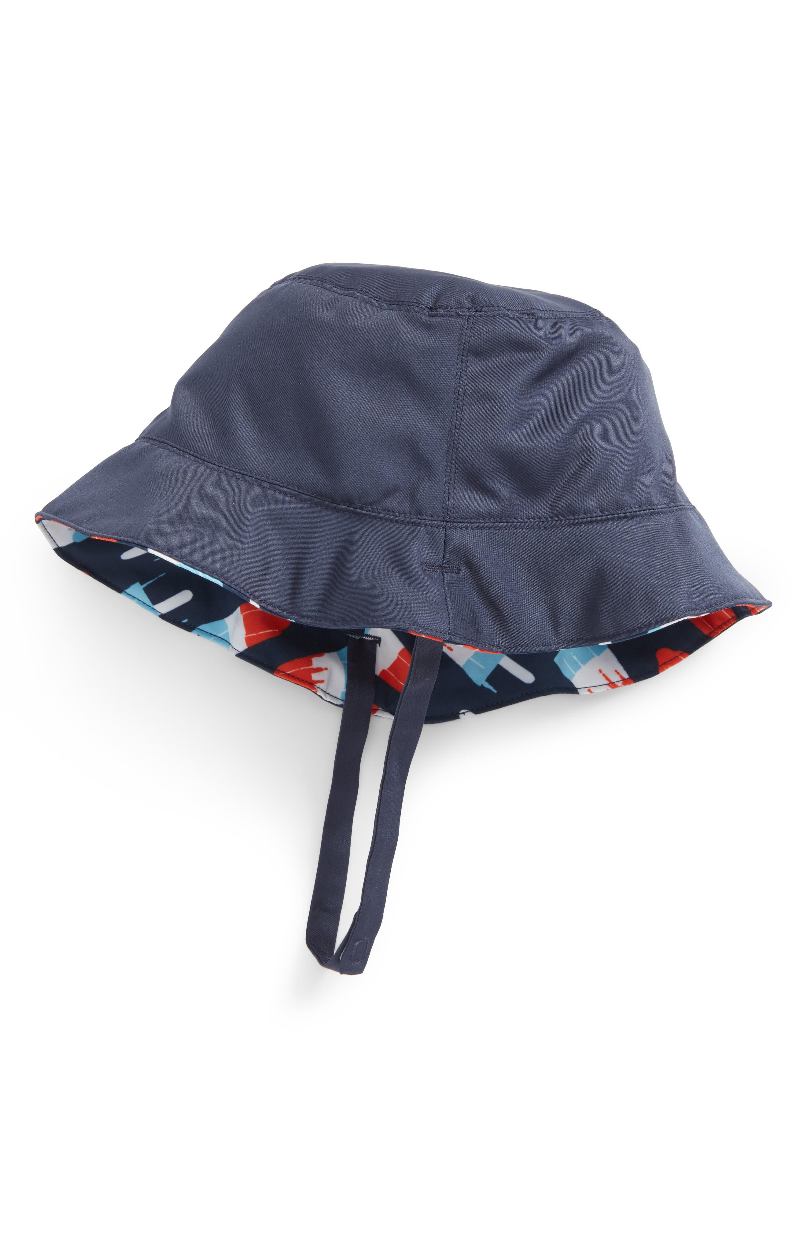 Reversible Bucket Hat,                         Main,                         color, Navy Dress Popsicles