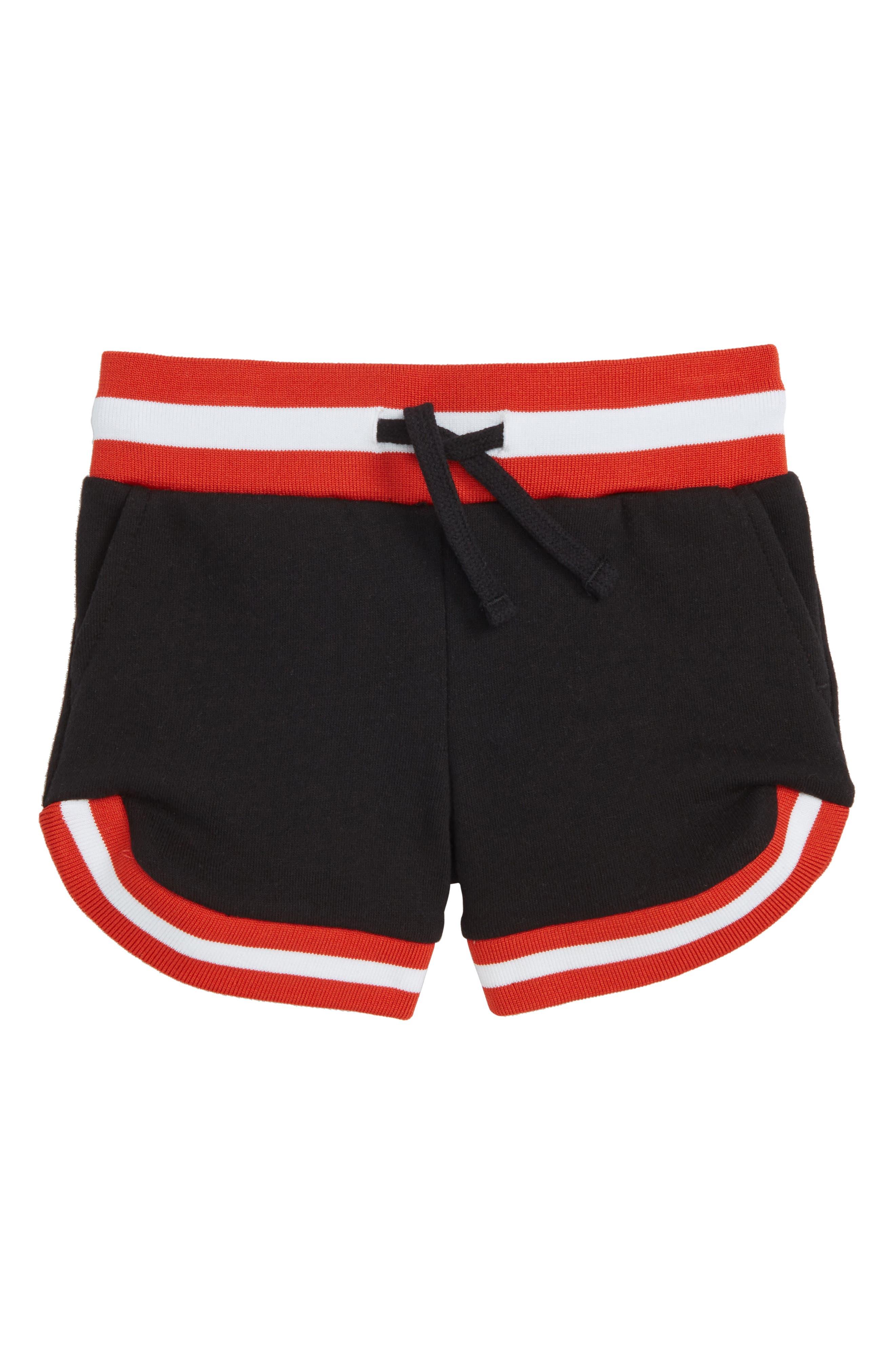Delilah Shorts,                             Main thumbnail 1, color,                             Black