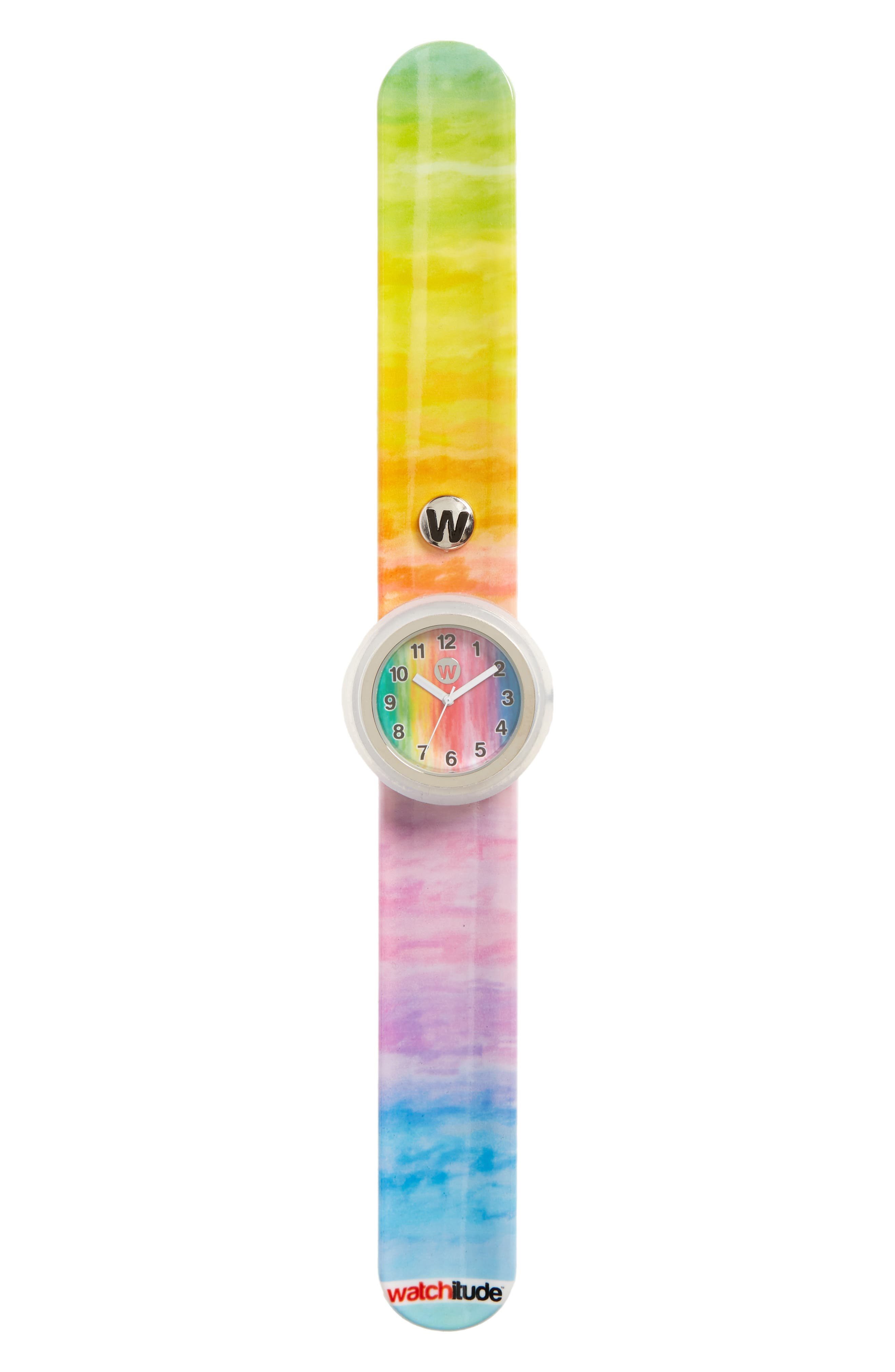 Alternate Image 1 Selected - watchitude Watercolors Slap Watch (Kids) (Limited Edition)