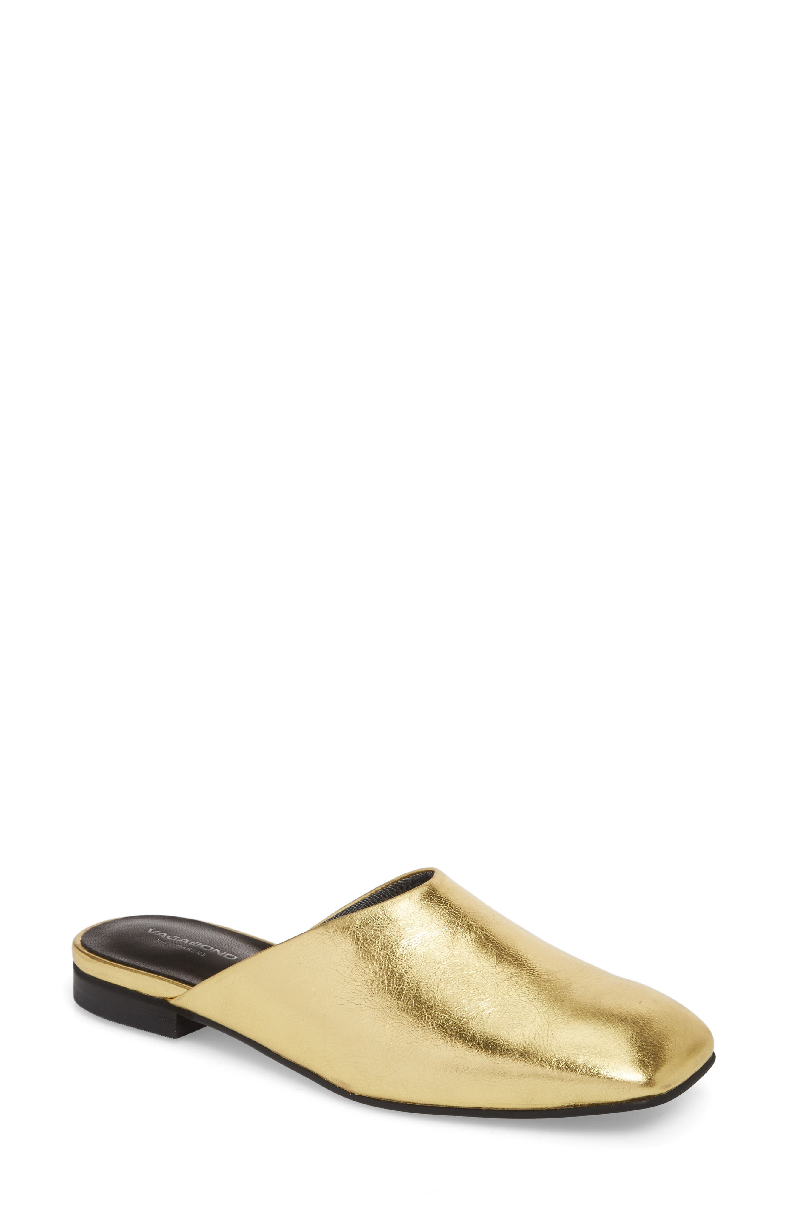 Dolores Mule,                             Main thumbnail 1, color,                             Gold Leather