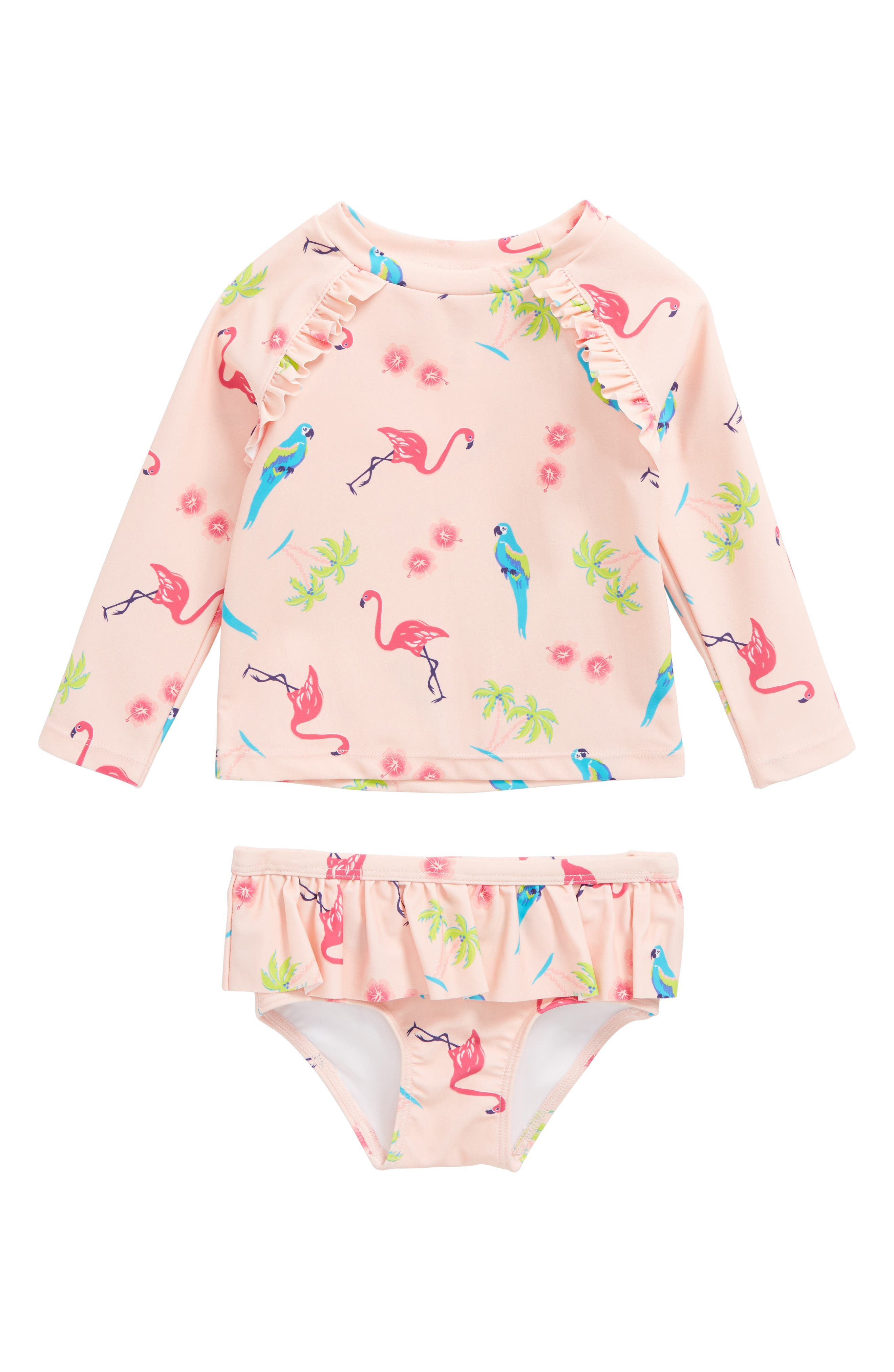 Tucker + Tate Two-Piece Rashguard Swimsuit (Baby Girls)