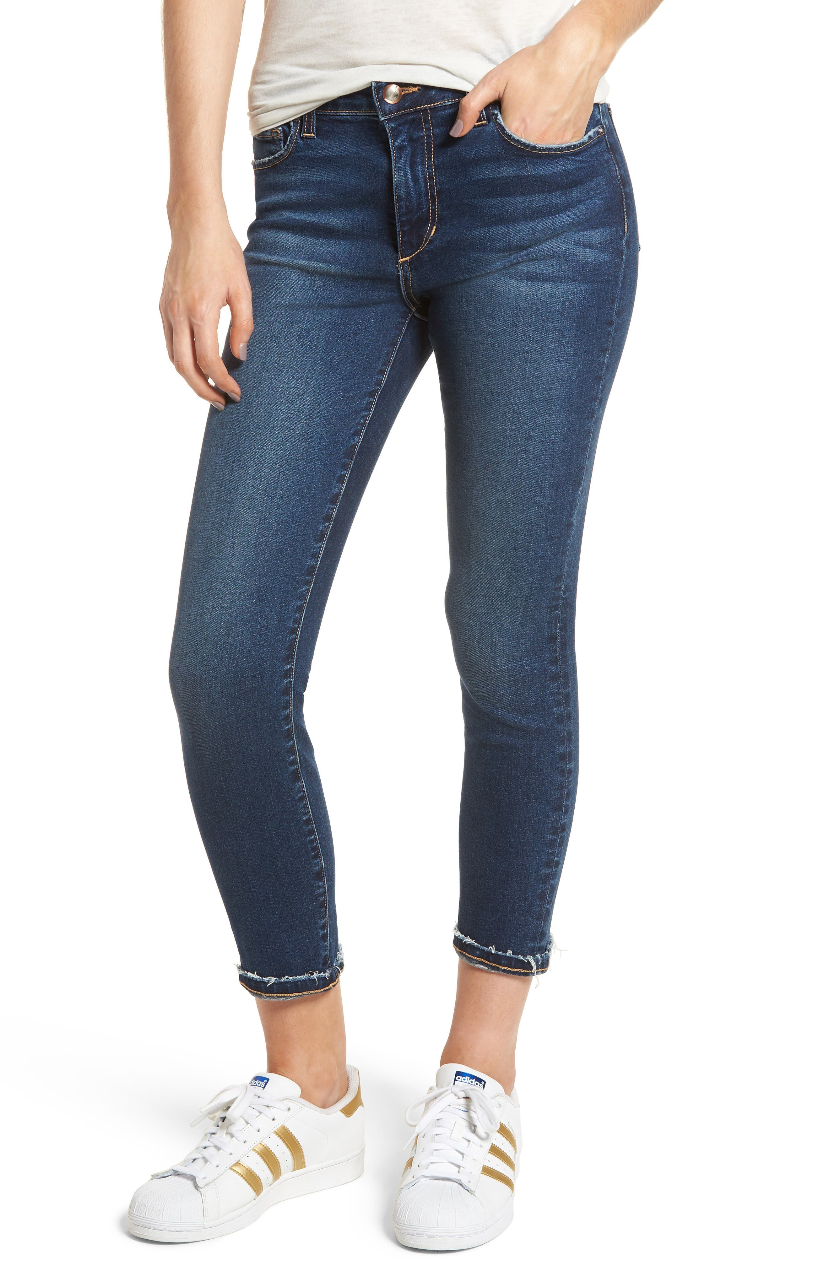 Flawless - Icon Crop Skinny Jeans,                             Main thumbnail 1, color,                             Madisen