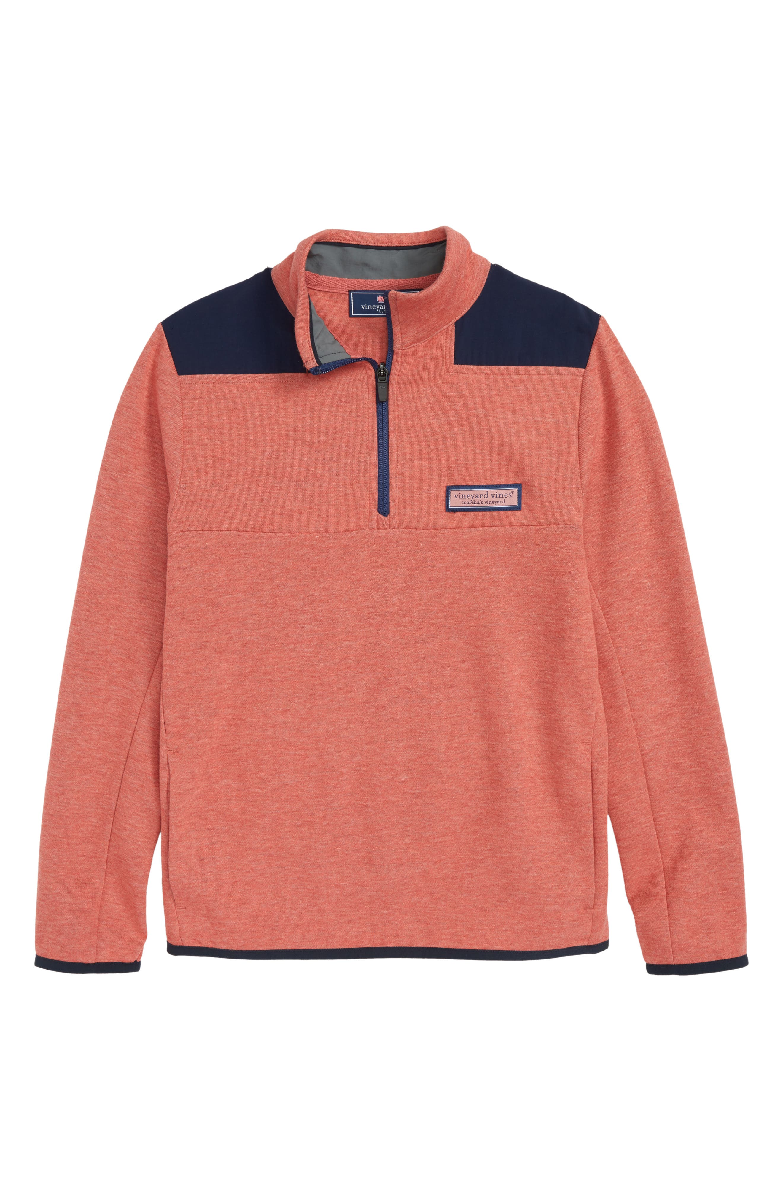 Mesh Shep Quarter Zip Pullover,                             Main thumbnail 1, color,                             Jetty Red