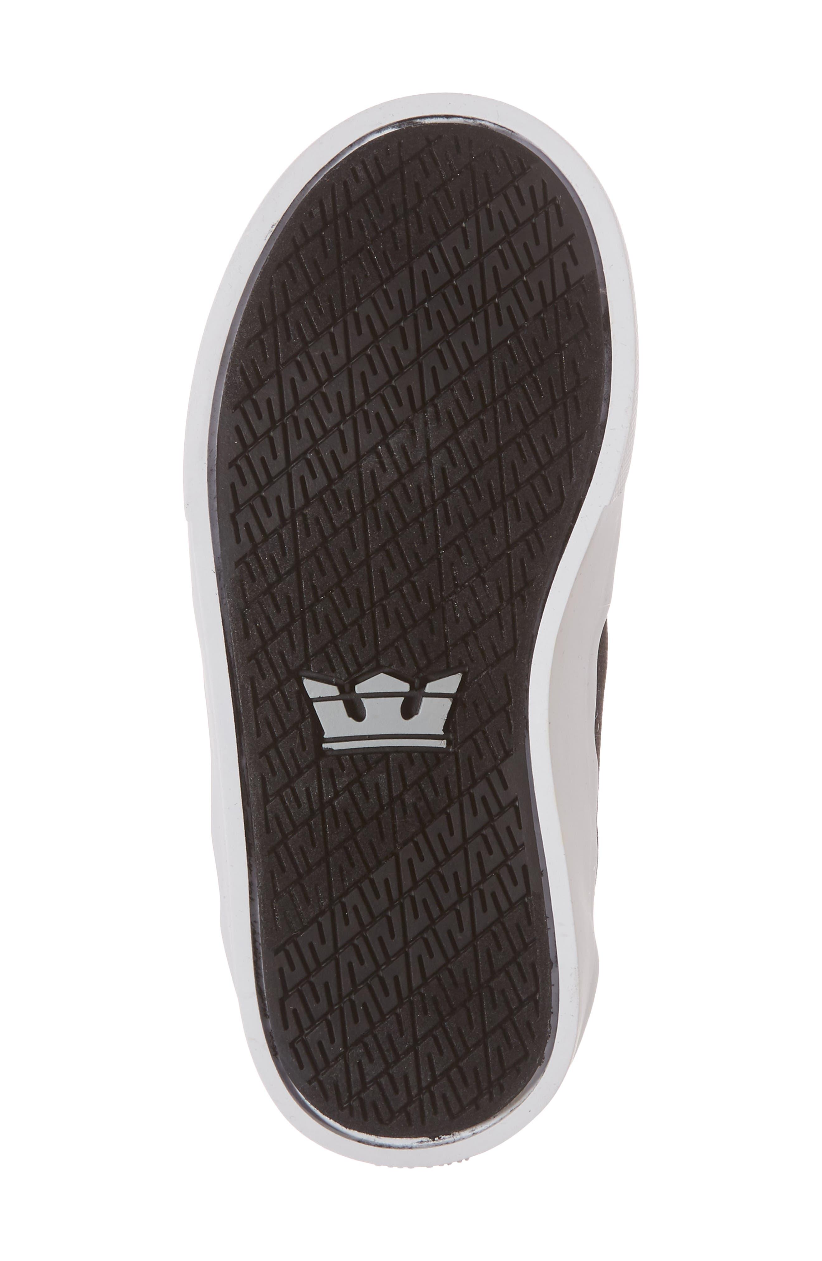 'Vaider' High Top Sneaker,                             Alternate thumbnail 6, color,                             Black/ White