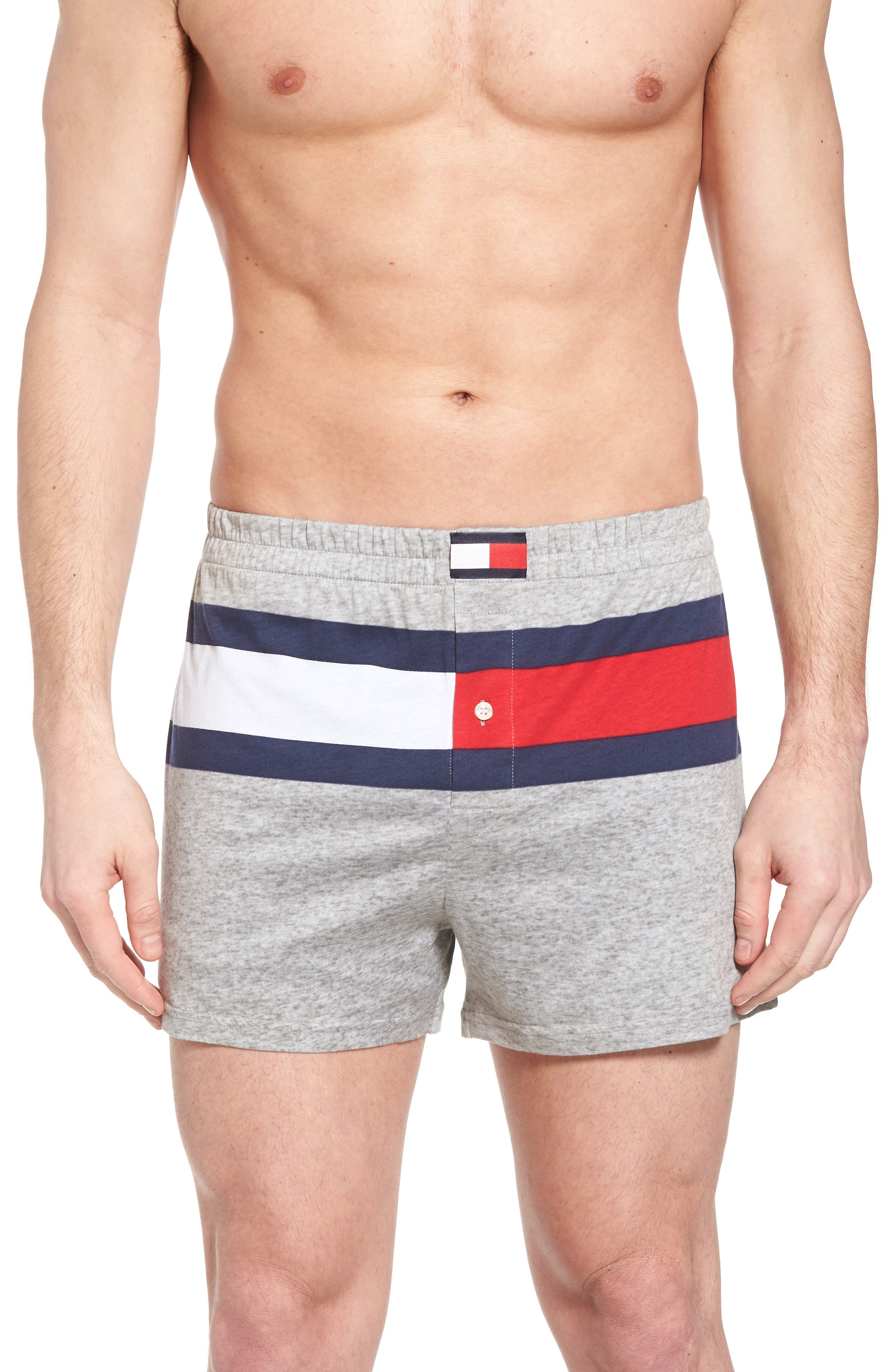 Cotton Boxers,                         Main,                         color, Grey Heather