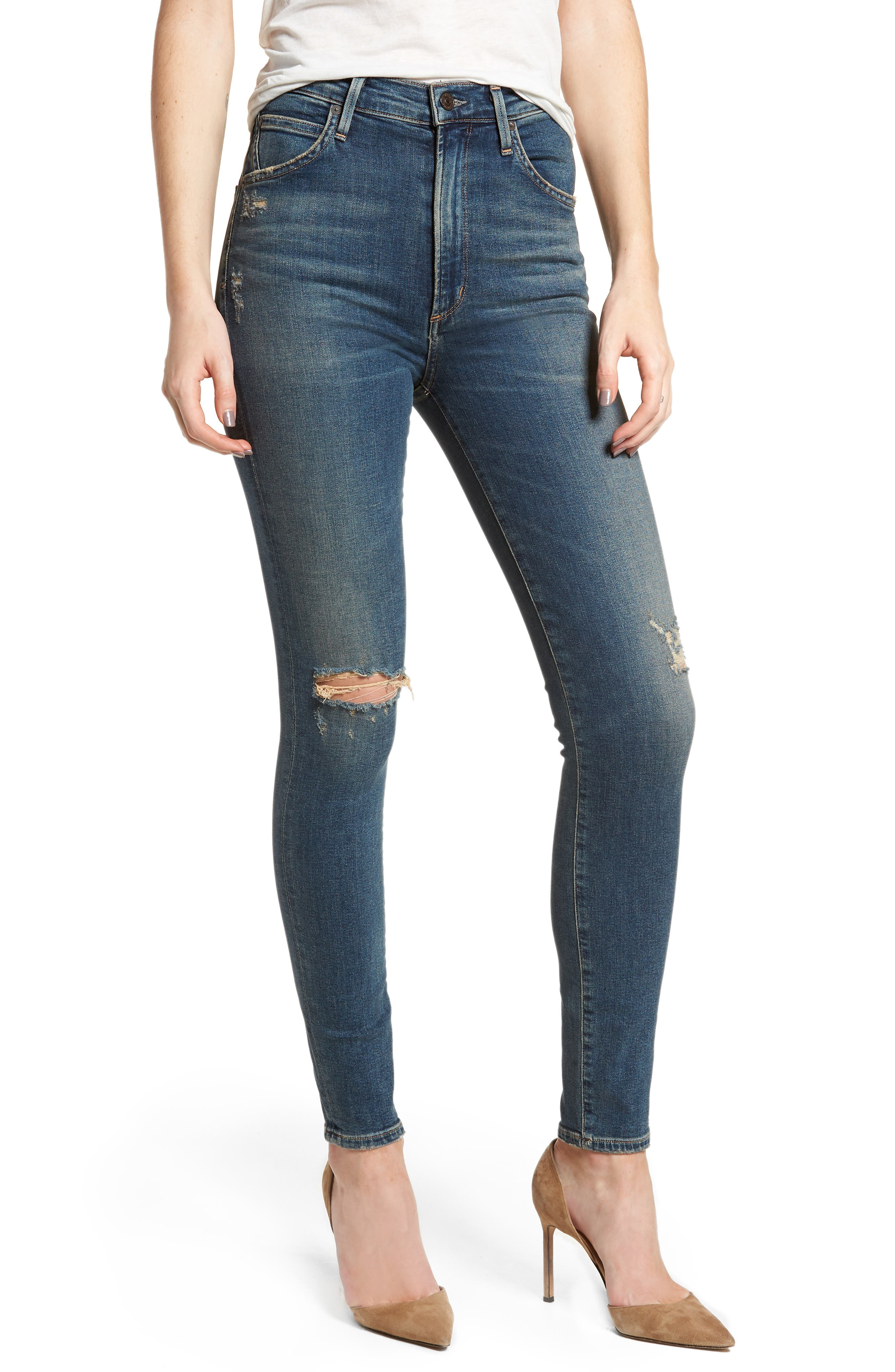 Chrissy High Waist Skinny Jeans,                             Main thumbnail 1, color,                             Roulette