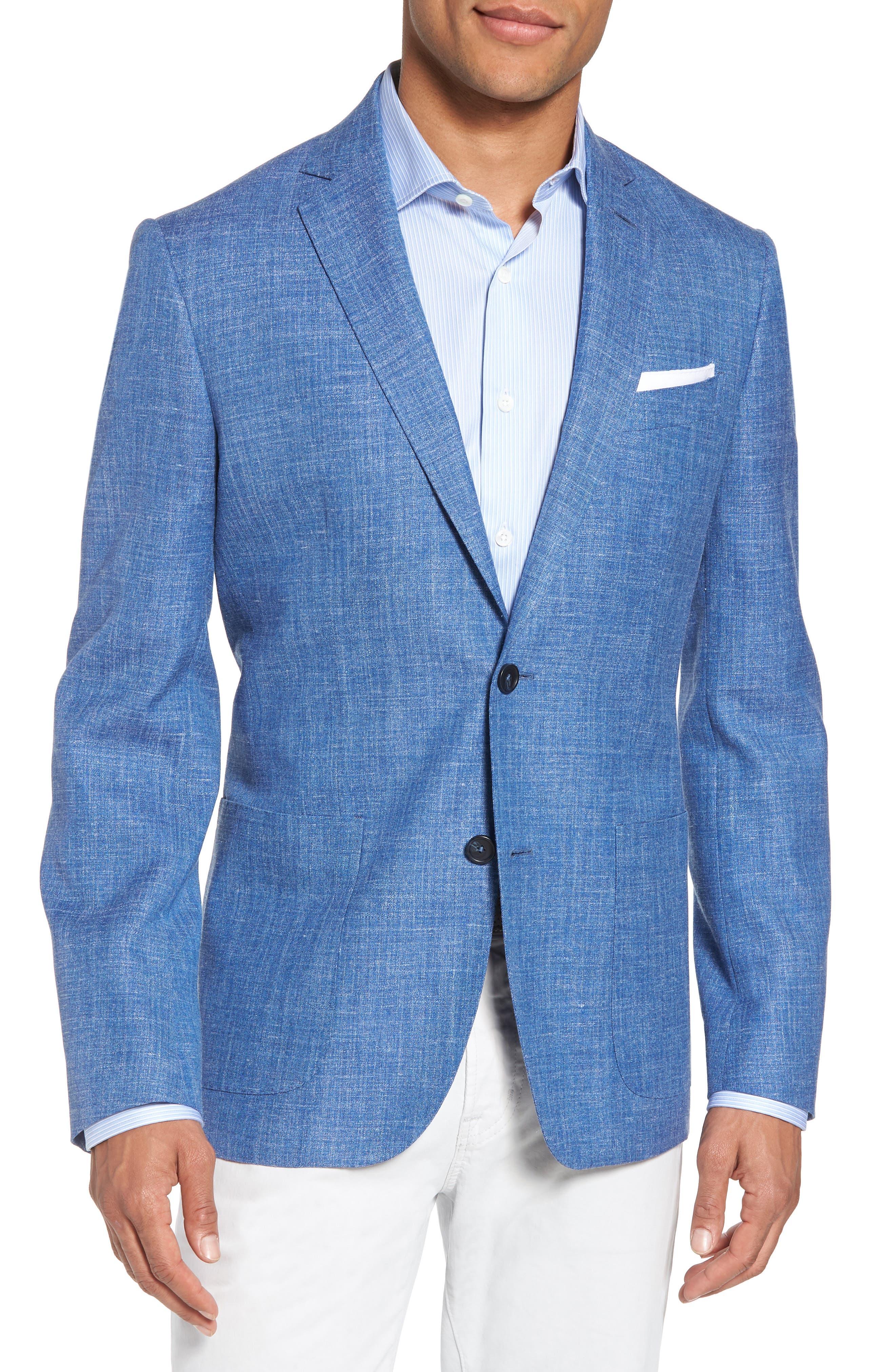 Monte Rosso Trim Fit Wool Blend Blazer