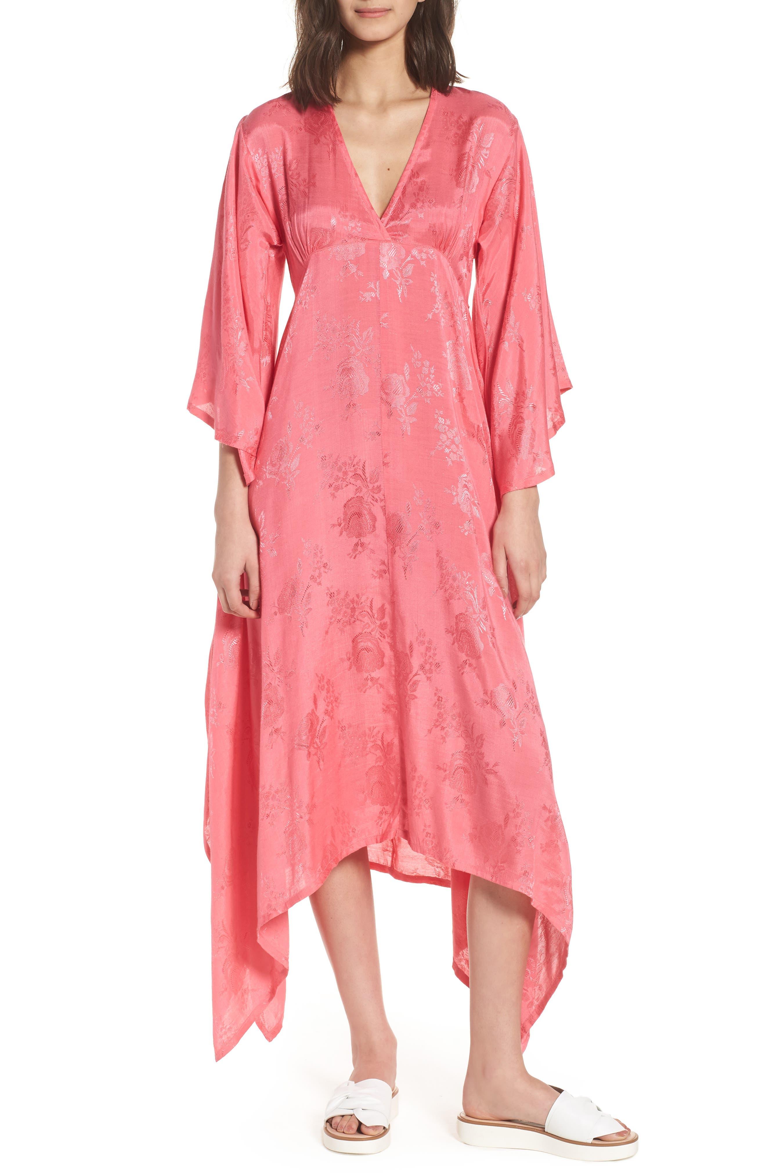 Florence Handkerchief Hem Dress,                             Main thumbnail 1, color,                             Camellia