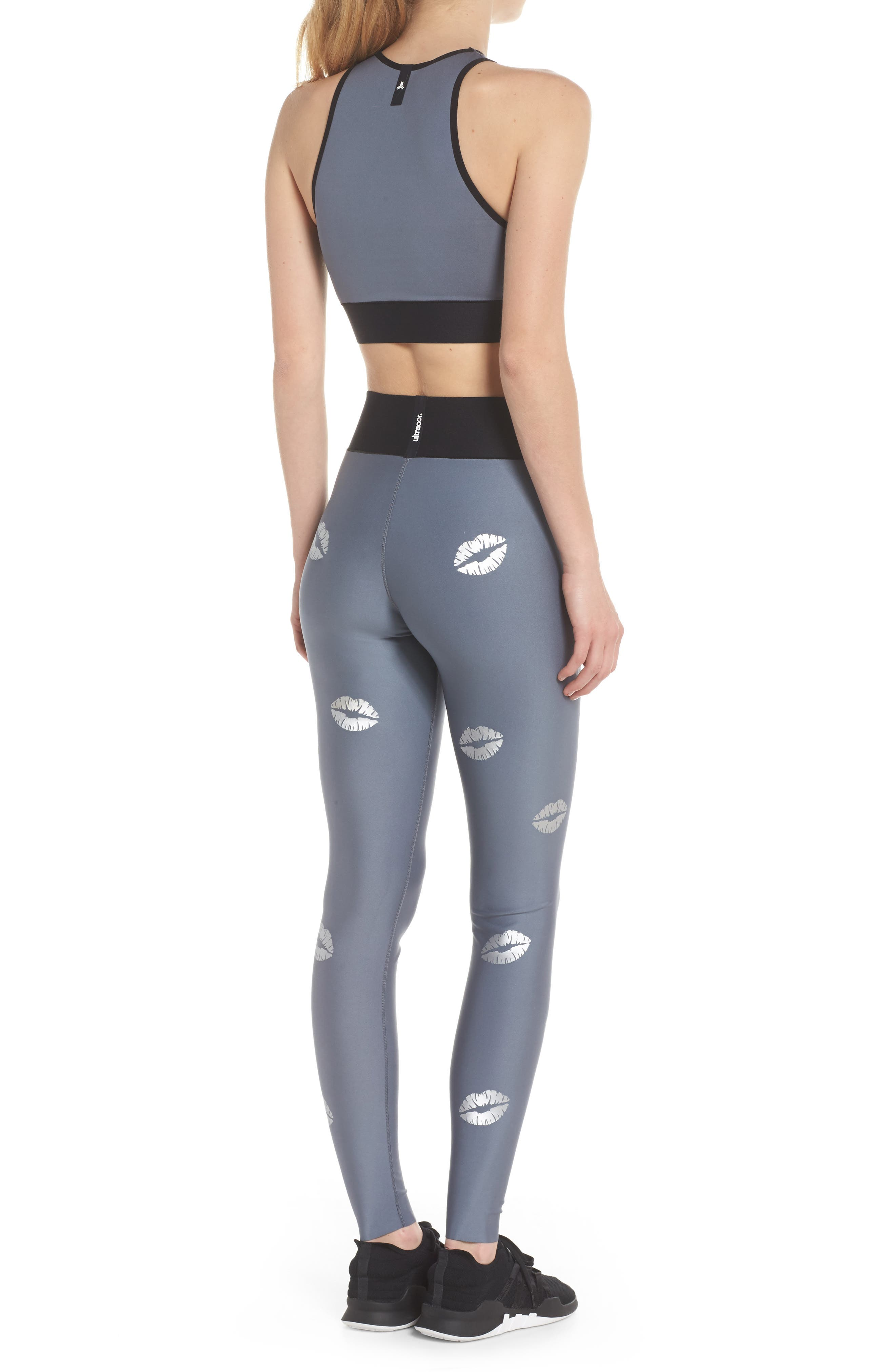 Altitude Lux Make Out Crop Top,                             Alternate thumbnail 7, color,                             Silver Brushed Steel