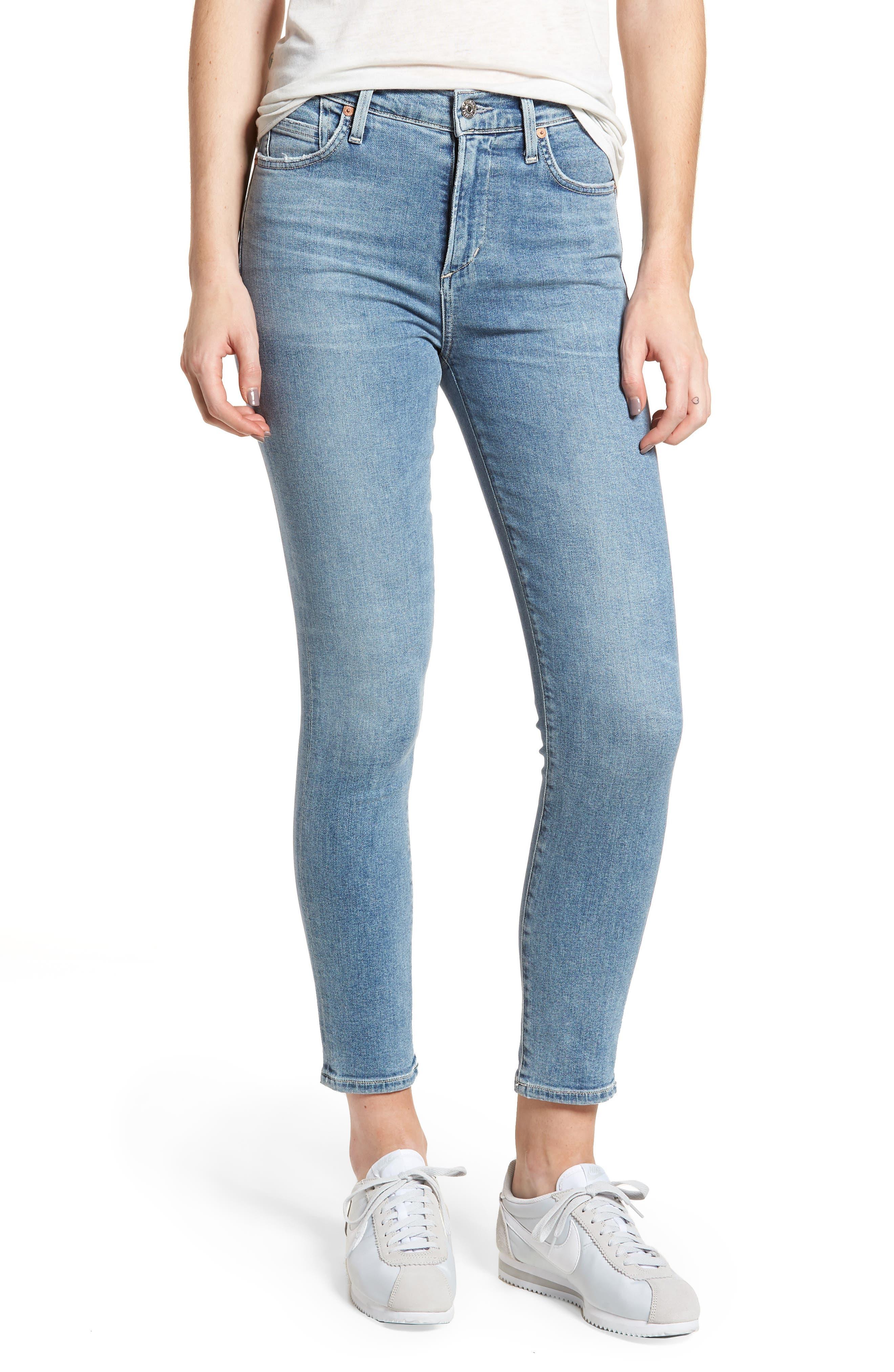 Rocket High Waist Crop Skinny Jeans,                             Main thumbnail 1, color,                             Firestone