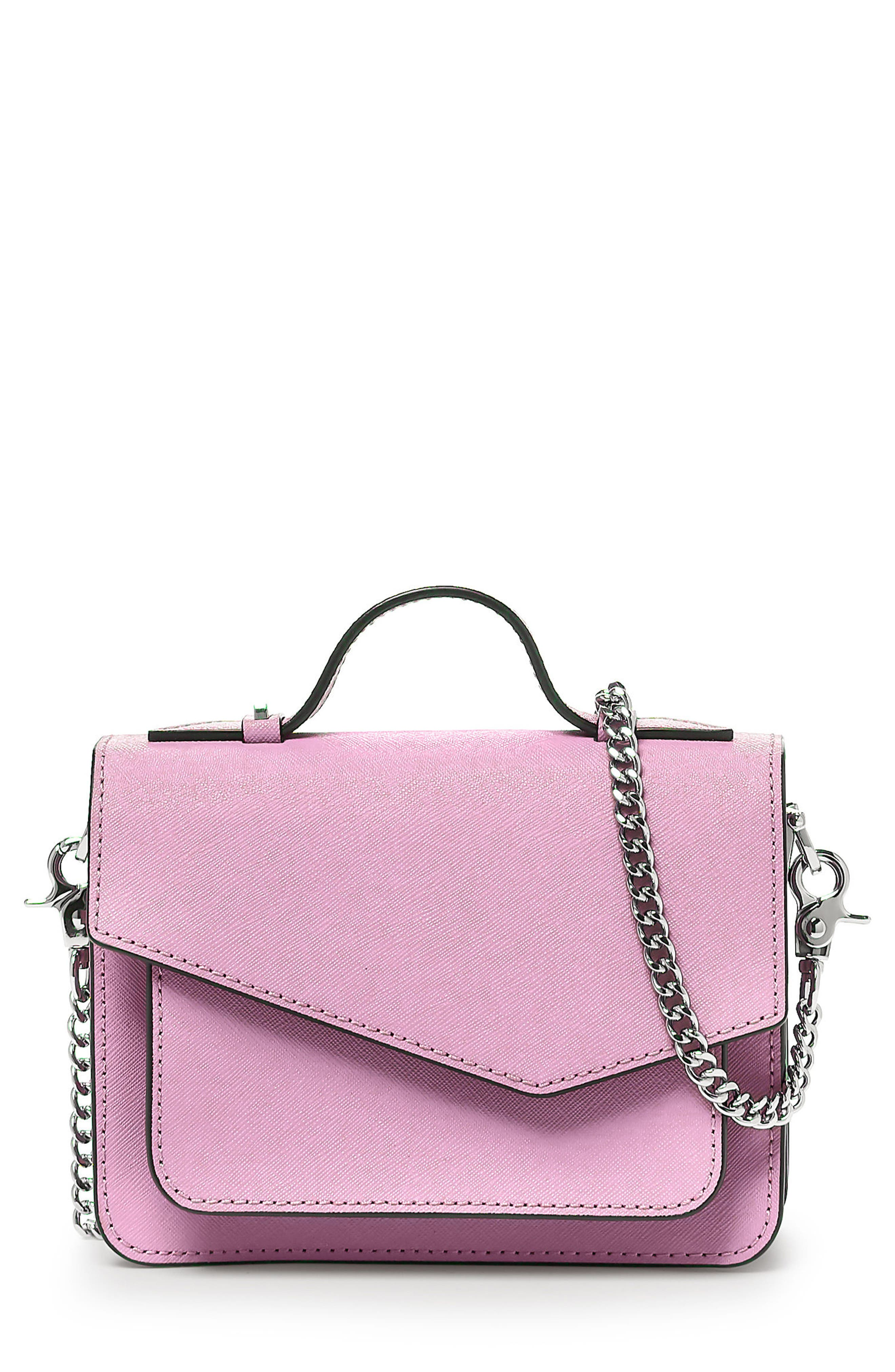 Mini Cobble Hill Calfskin Leather Crossbody Bag,                             Main thumbnail 1, color,                             Lilac