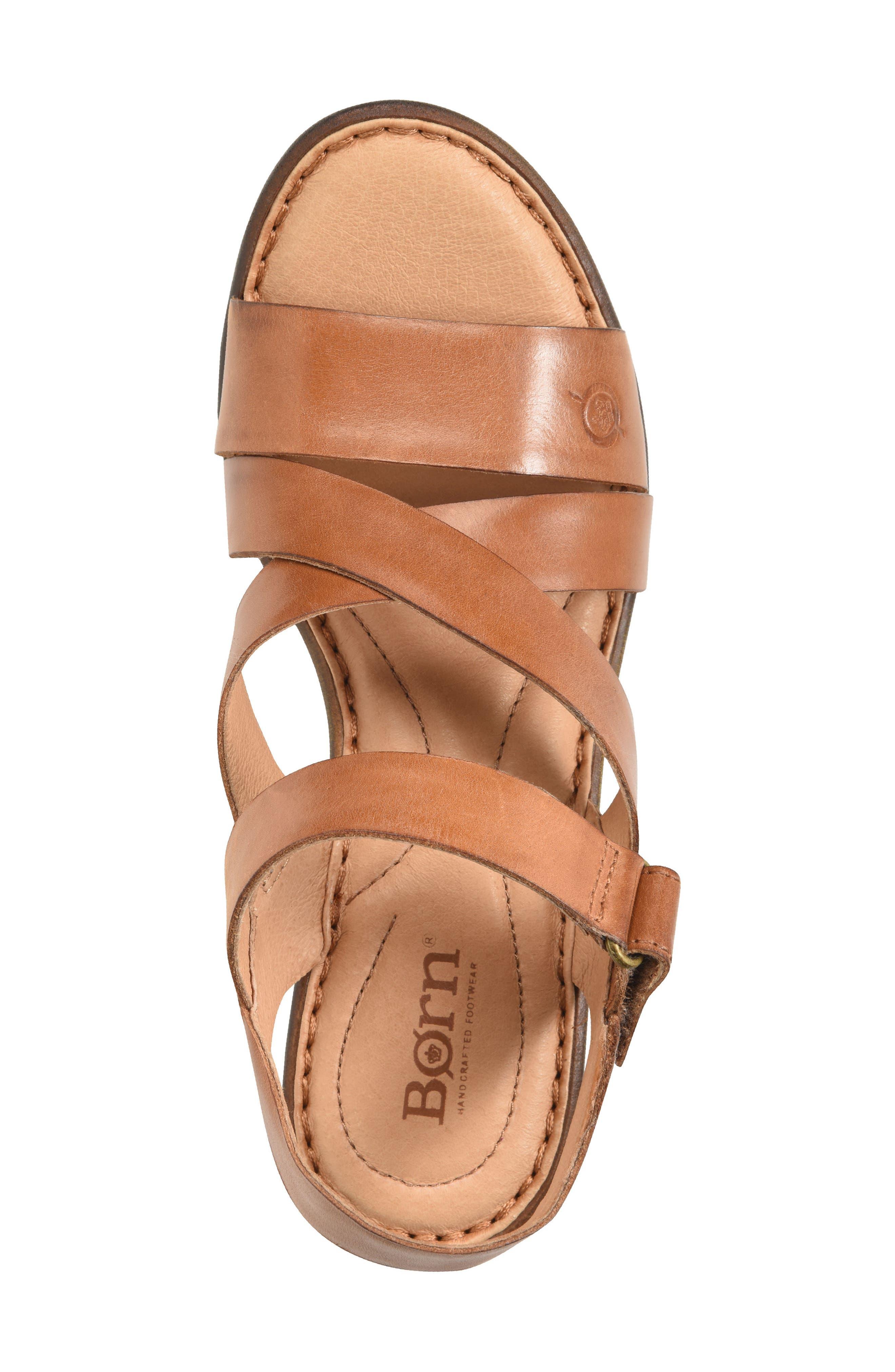 Cubera Platform Sandal,                             Alternate thumbnail 5, color,                             Brown Leather
