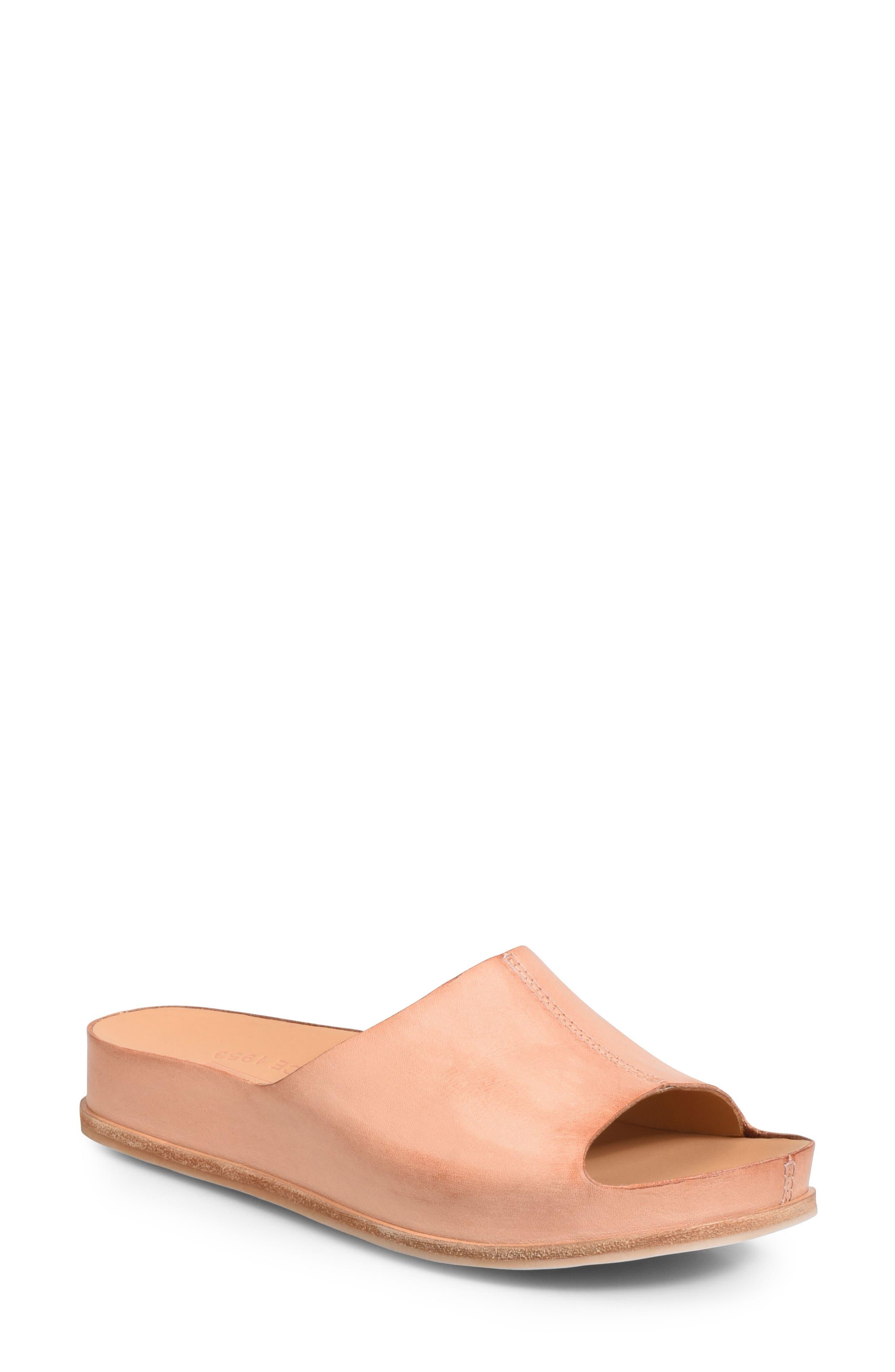 'Tutsi' Slide Sandal,                             Main thumbnail 1, color,                             Blush Leather