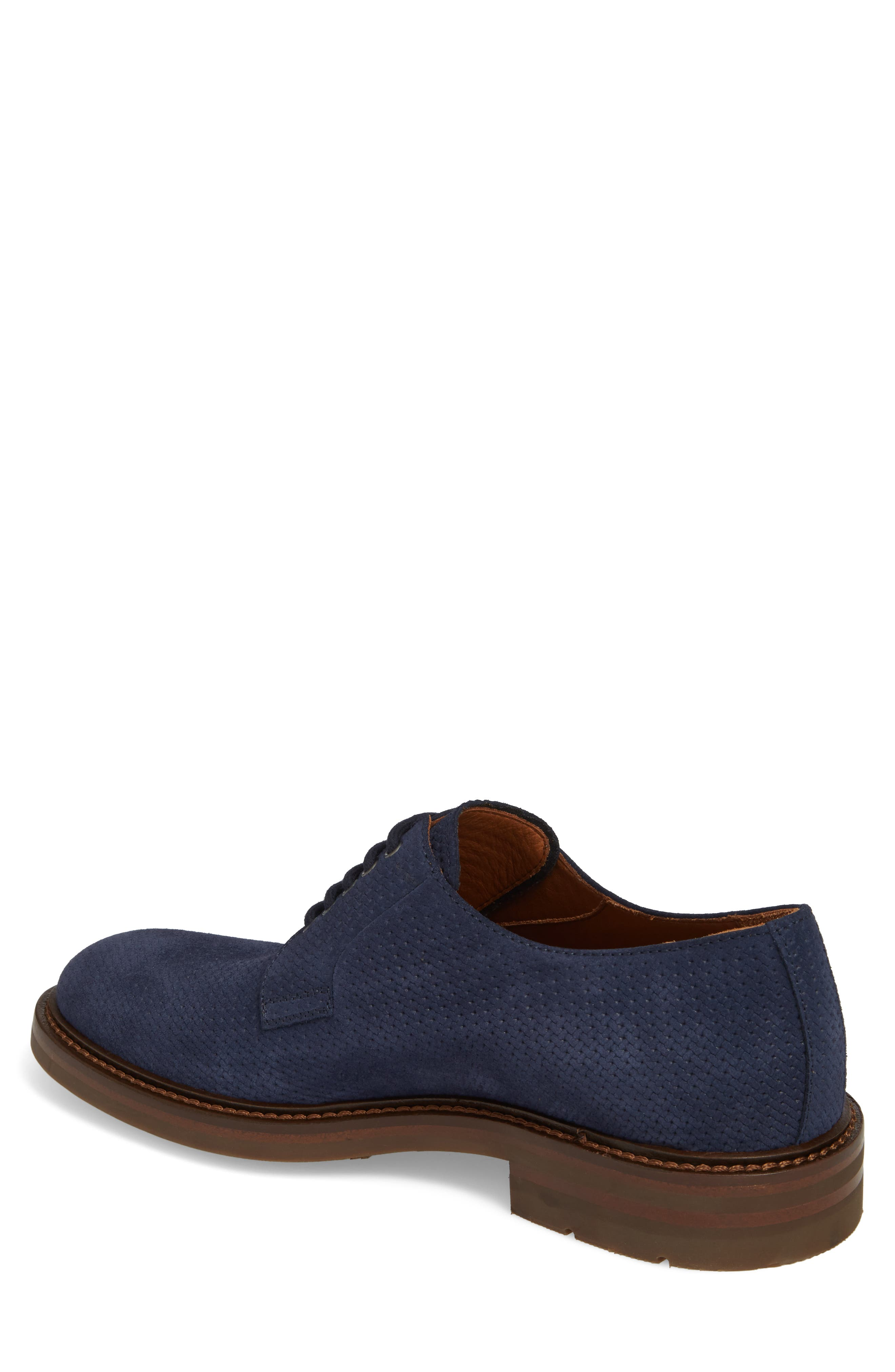 Roberto Embossed Weatherproof Oxford,                             Alternate thumbnail 2, color,                             Navy