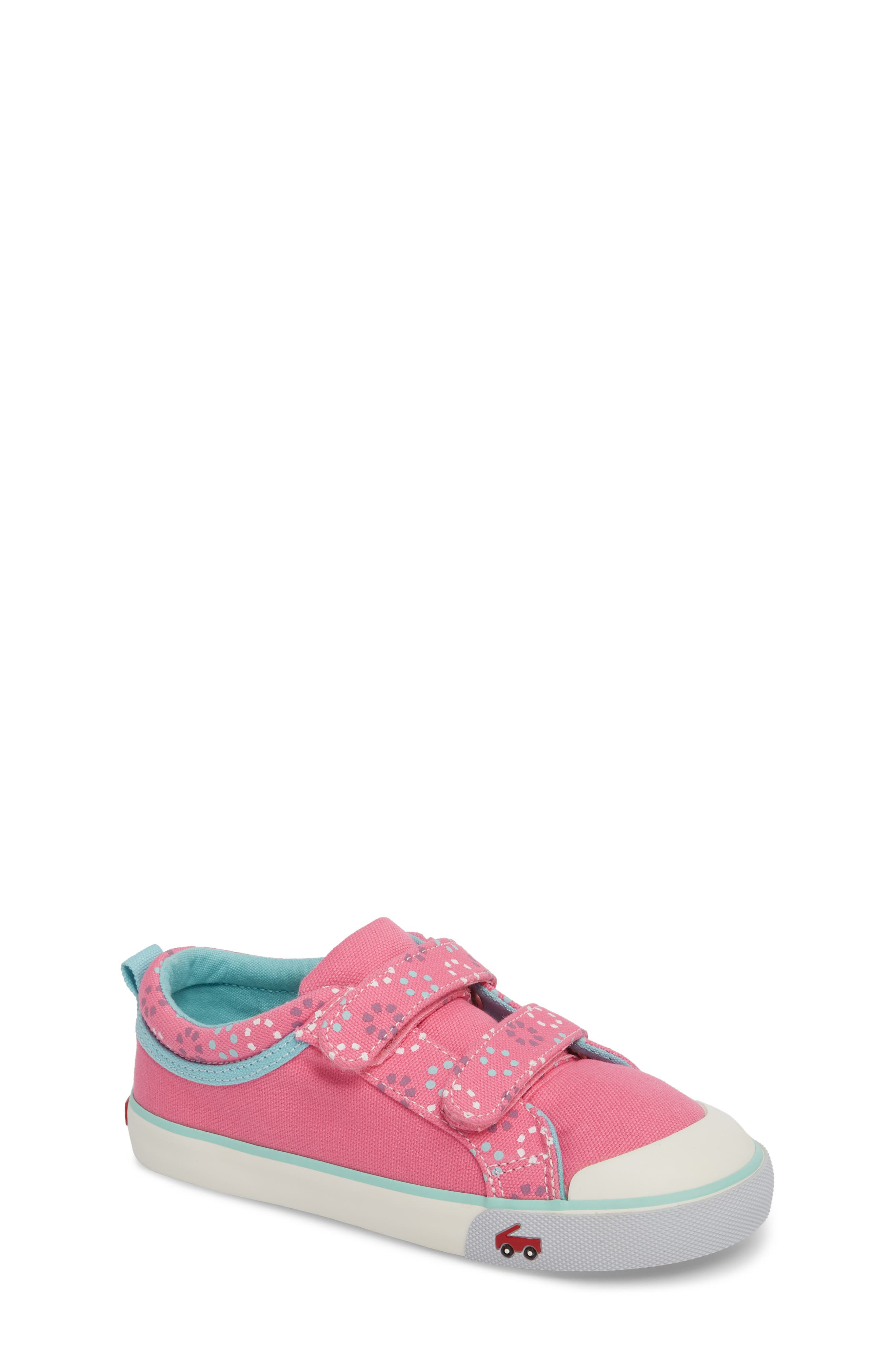 'Robyne' Sneaker,                         Main,                         color, Hot Pink Circle Mix