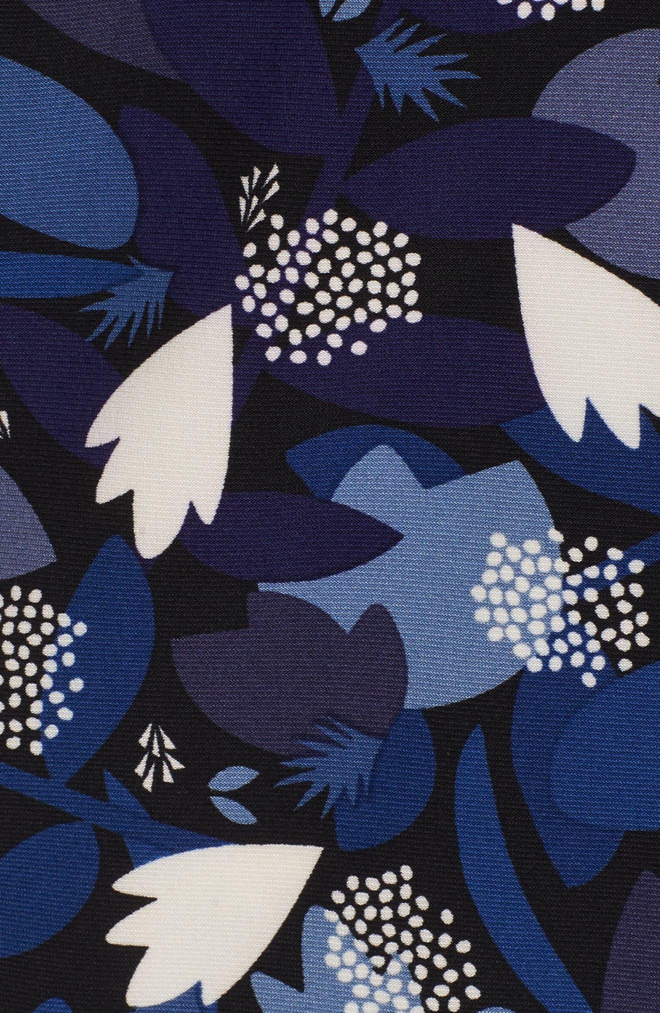 New York Amalfi Print Classic Wrap Dress,                             Alternate thumbnail 5, color,                             Black/ Monaco Combo