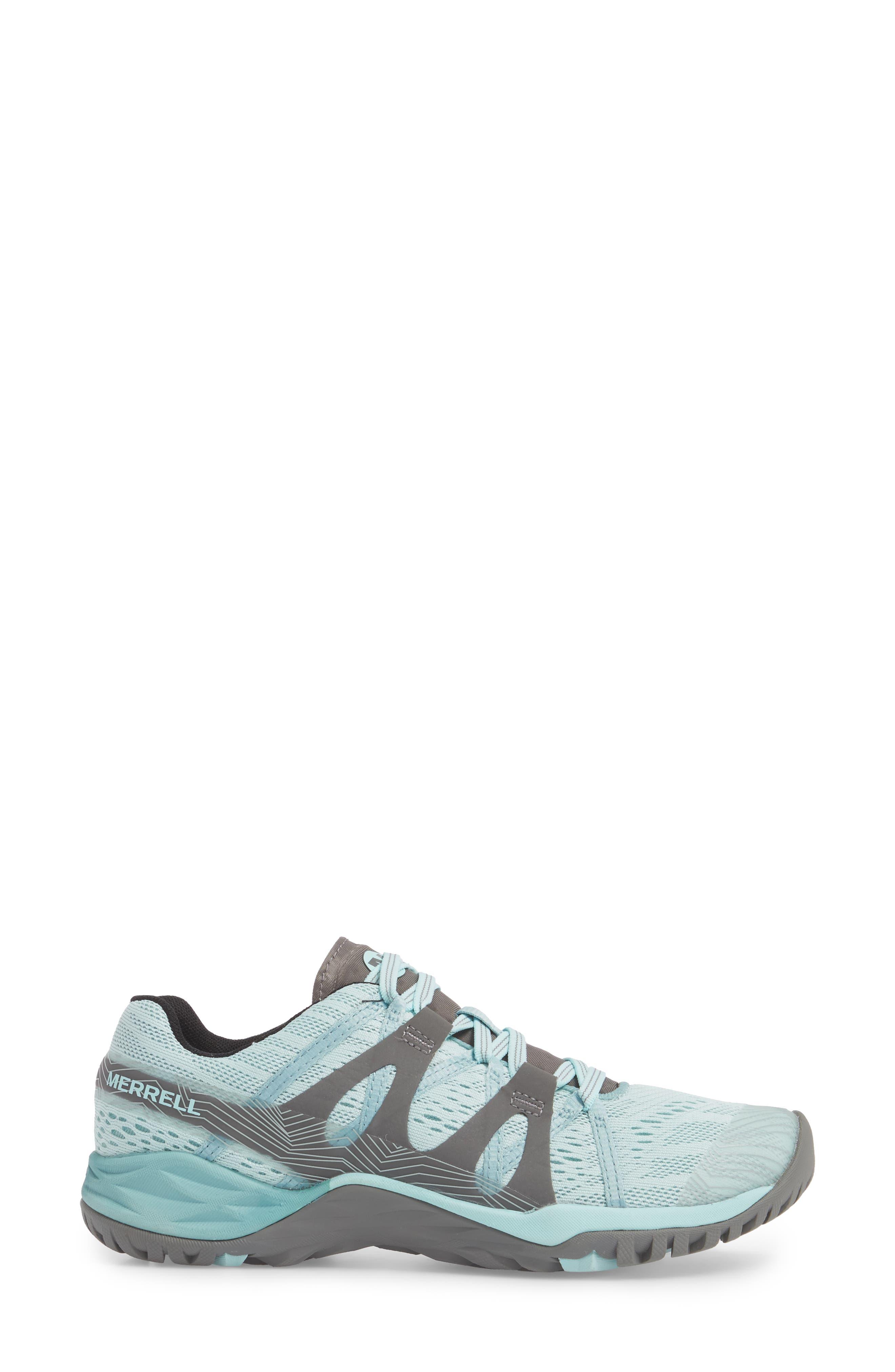 Siren Hex Sneaker,                             Alternate thumbnail 3, color,                             Bleached Aqua