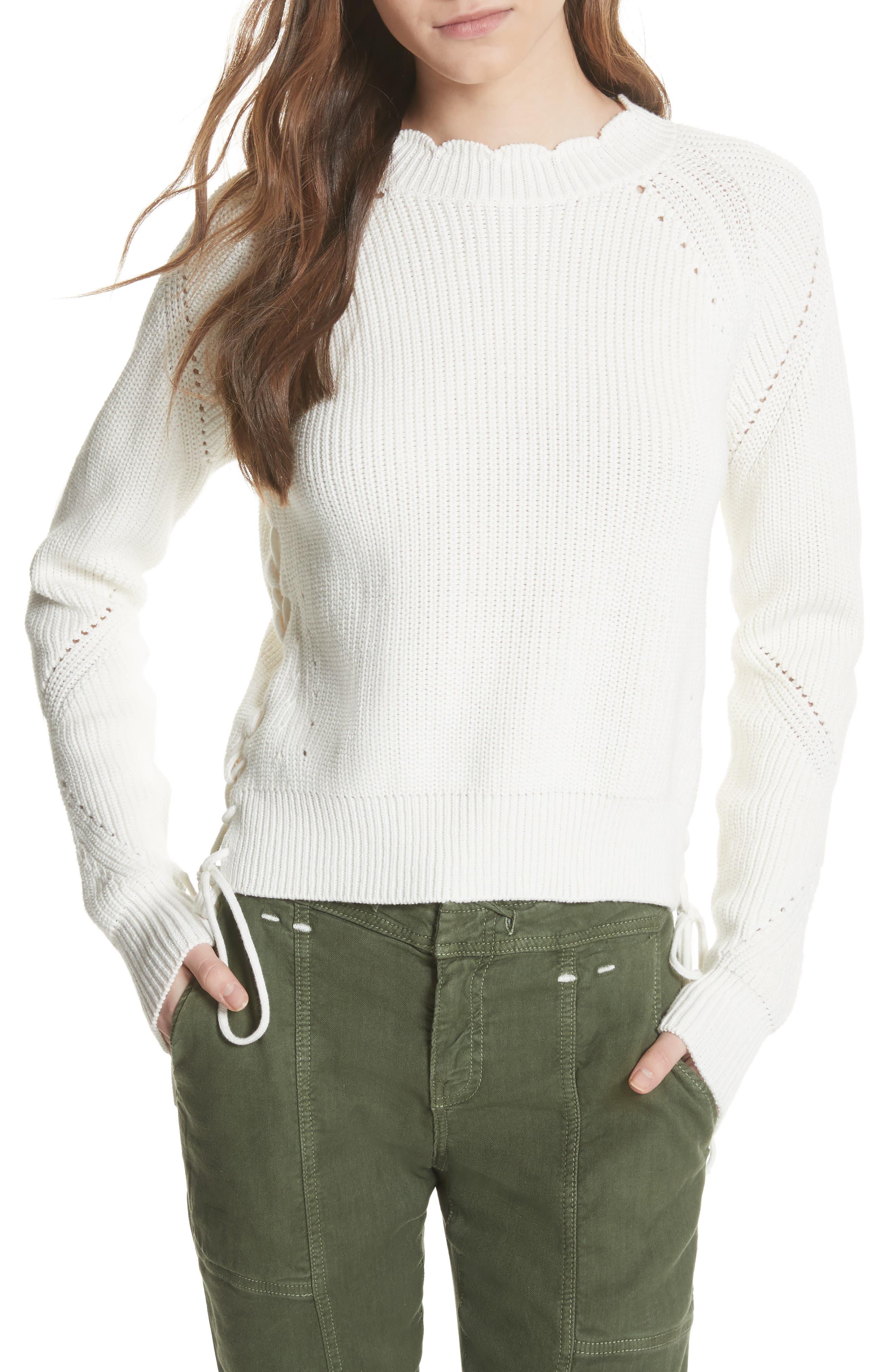 Adanya Sweater,                         Main,                         color, Porcelain