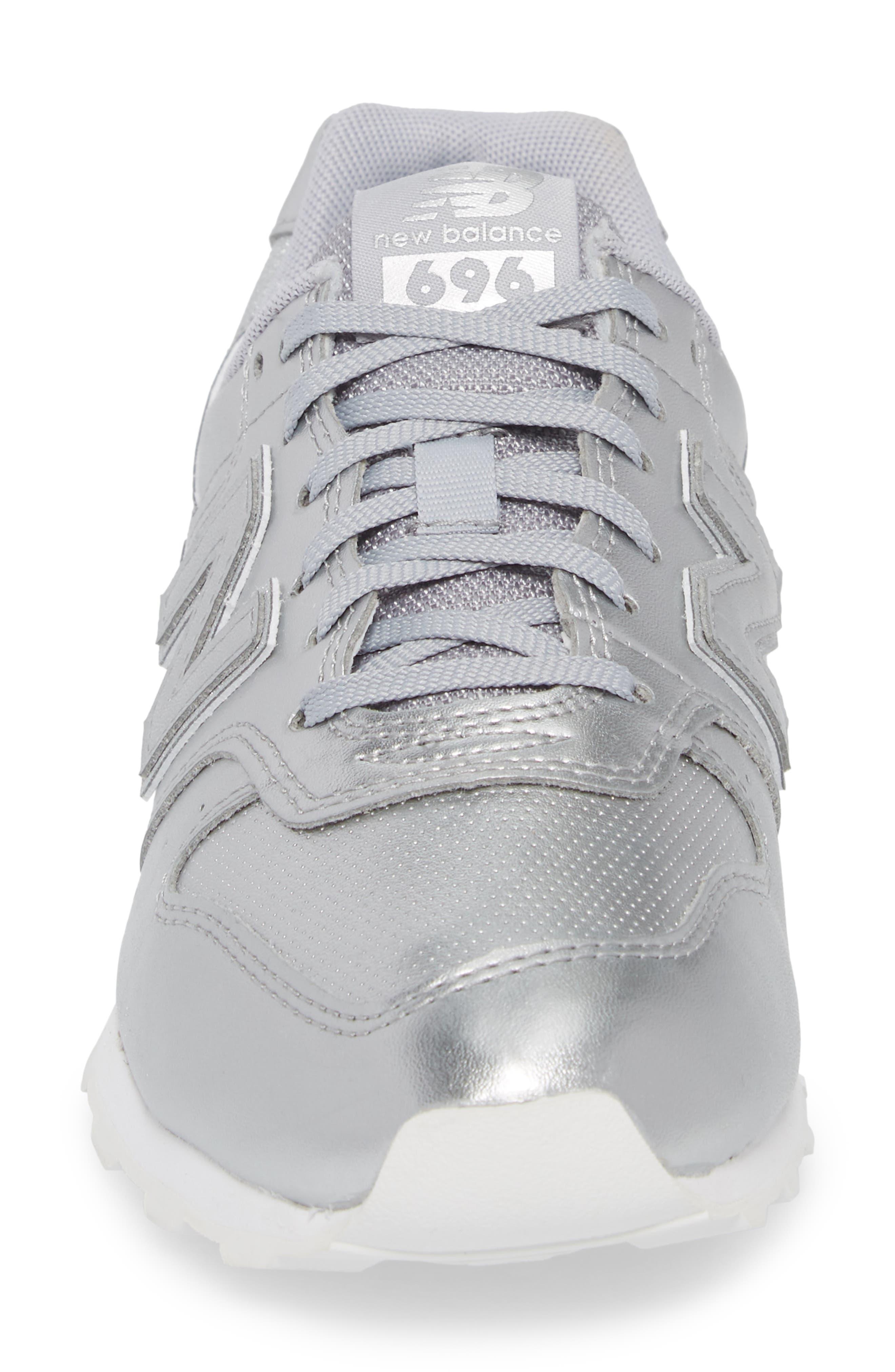 696 Sneaker,                             Alternate thumbnail 4, color,                             Metallic Silver