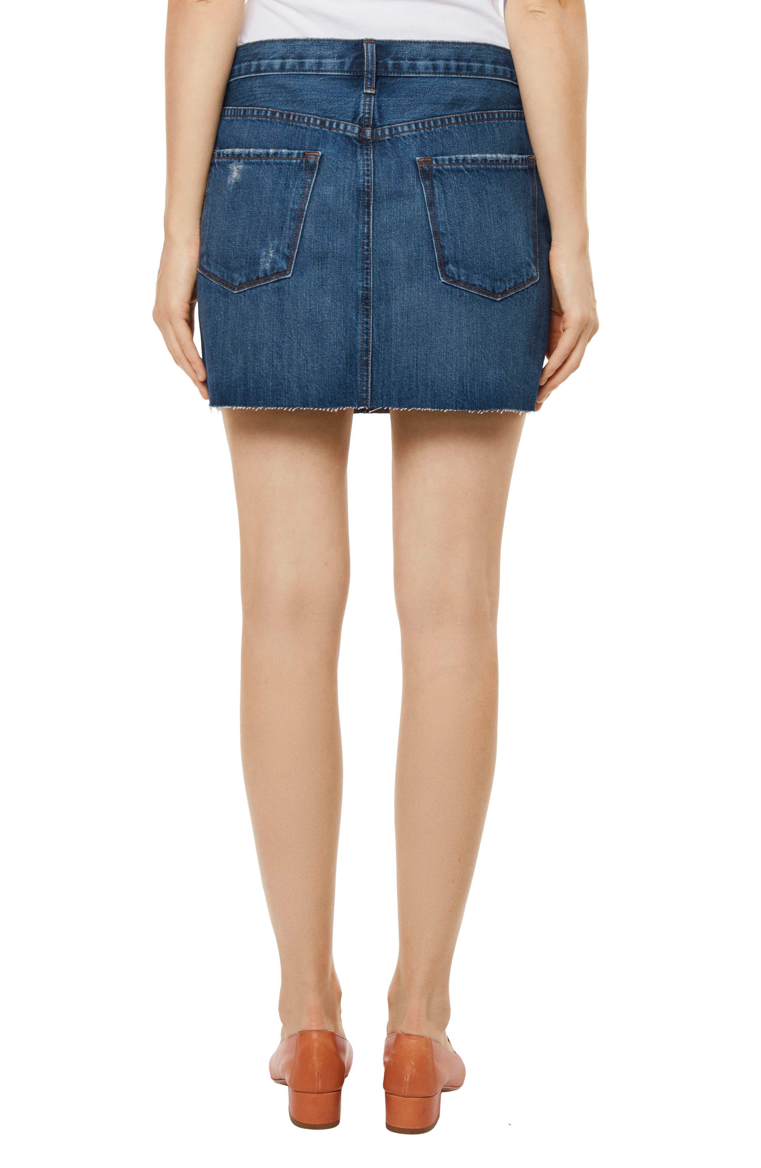Alternate Image 2  - J Brand Bonny Mid Rise Denim Miniskirt