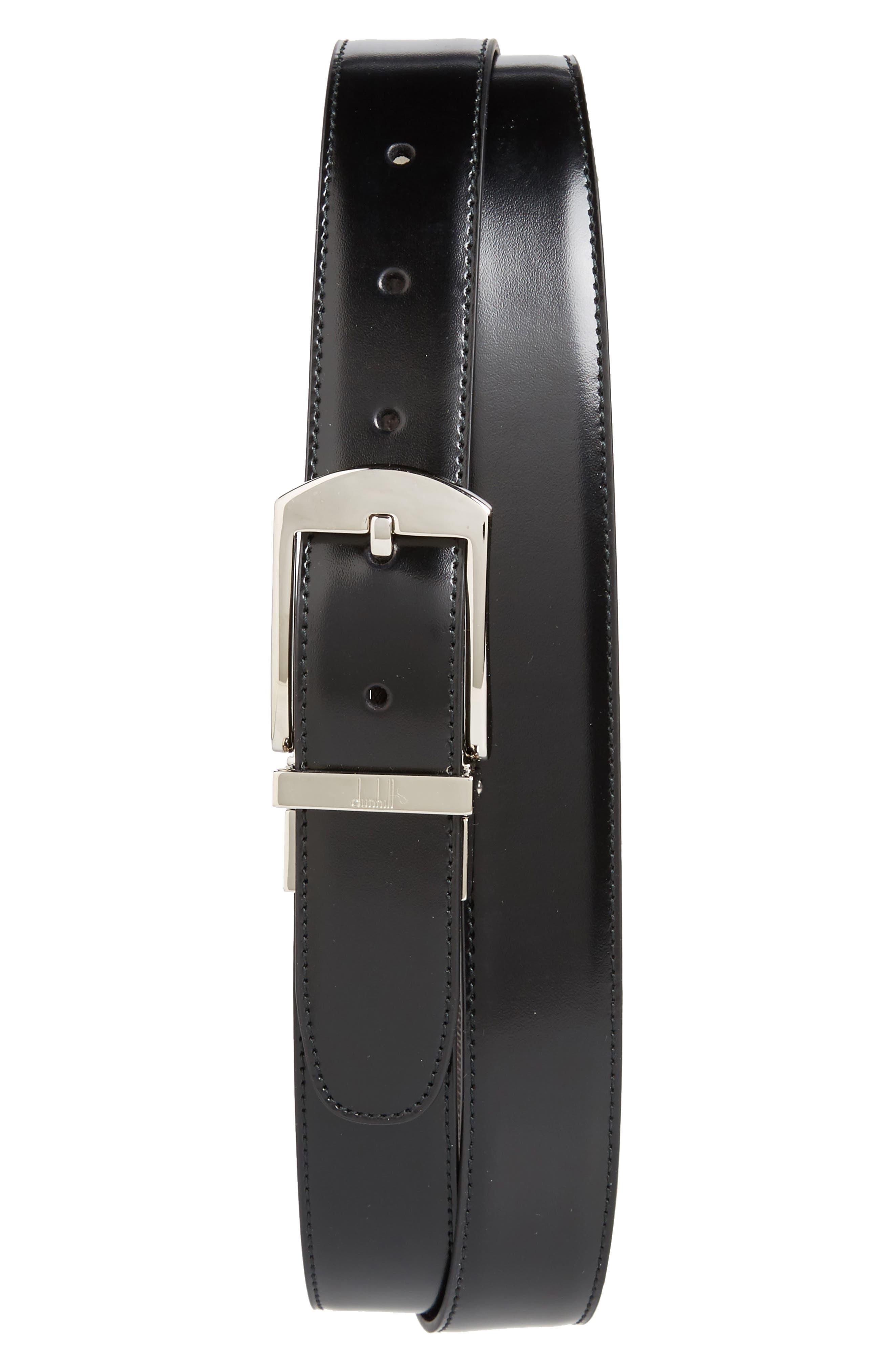 Classic Leather Belt,                         Main,                         color, Black