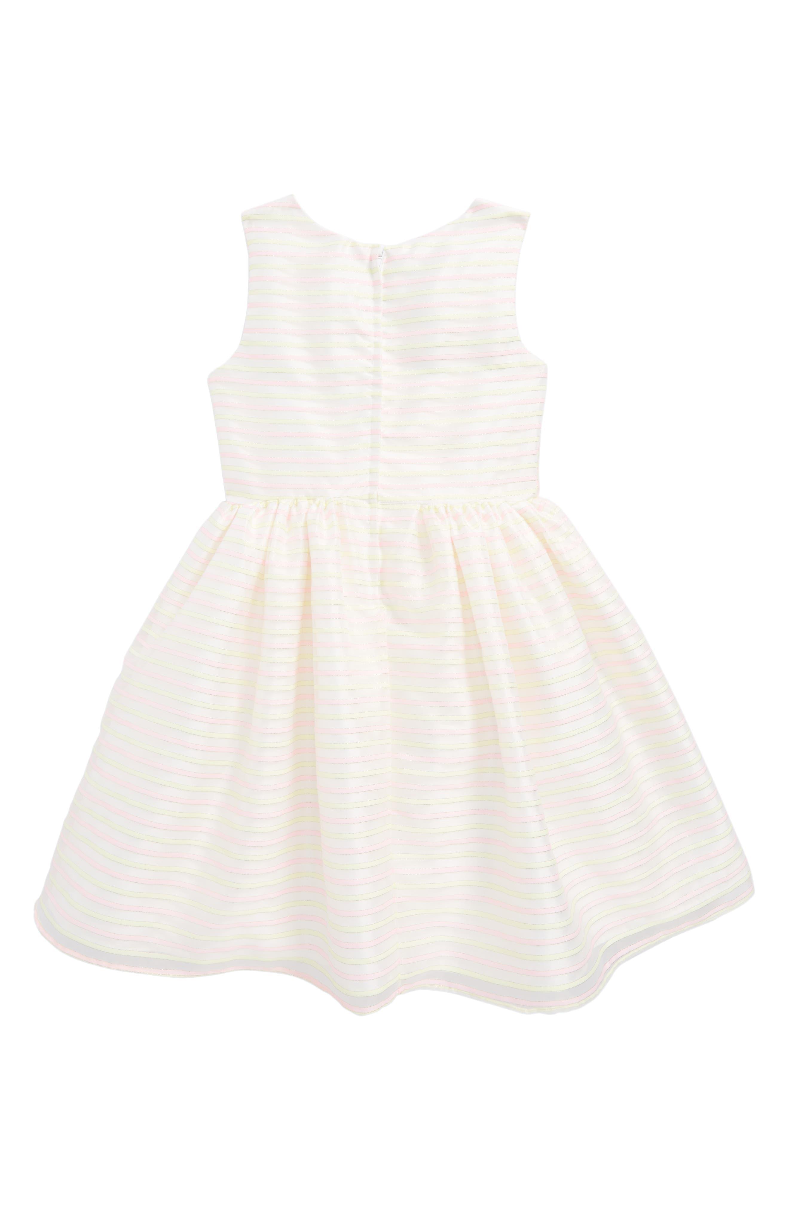 Stripe Sleeveless Dress,                             Alternate thumbnail 2, color,                             Yellow/ Pink