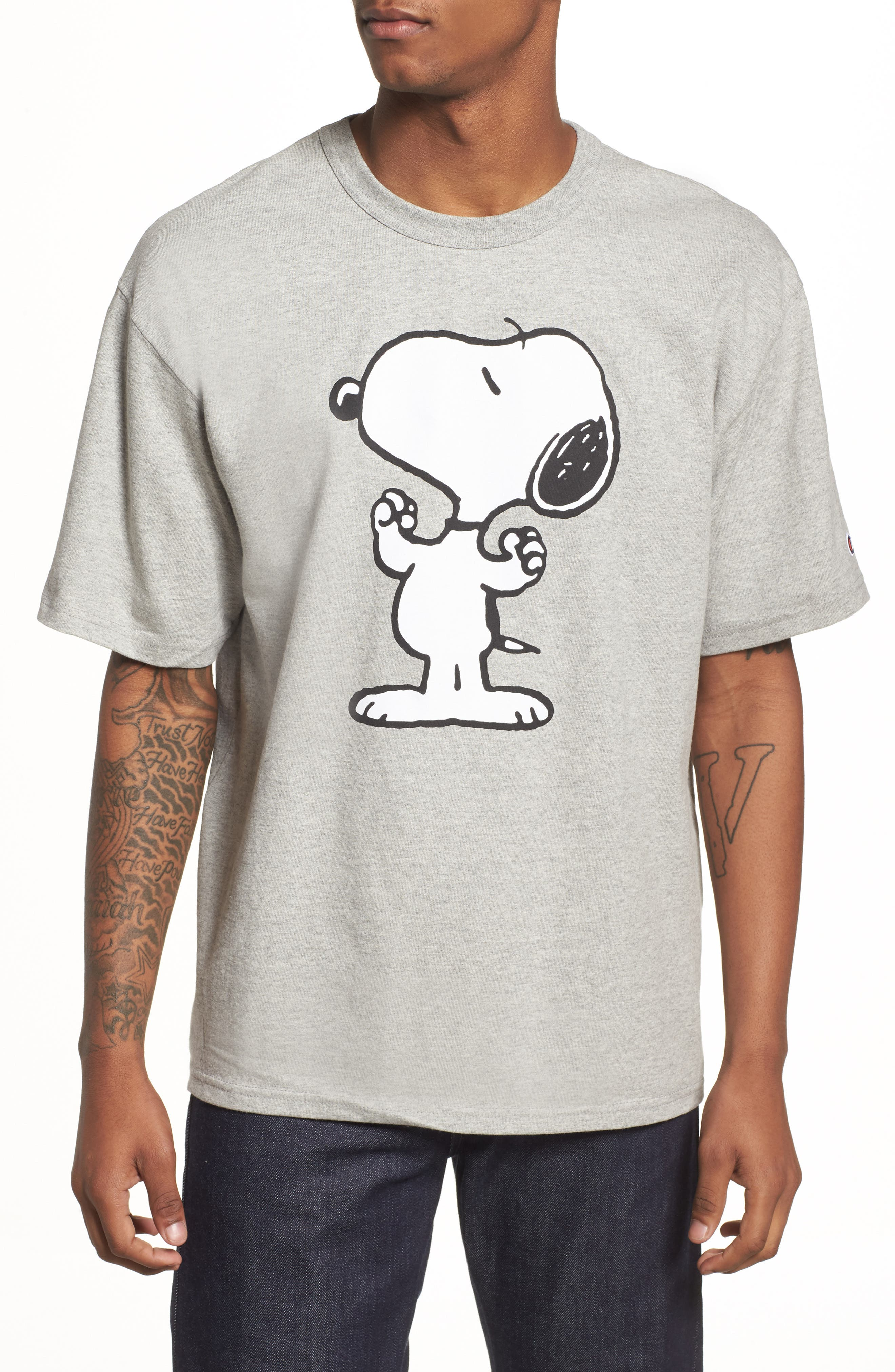 Heritage Snoopy Unisex T-Shirt,                             Alternate thumbnail 2, color,                             Oxford Grey