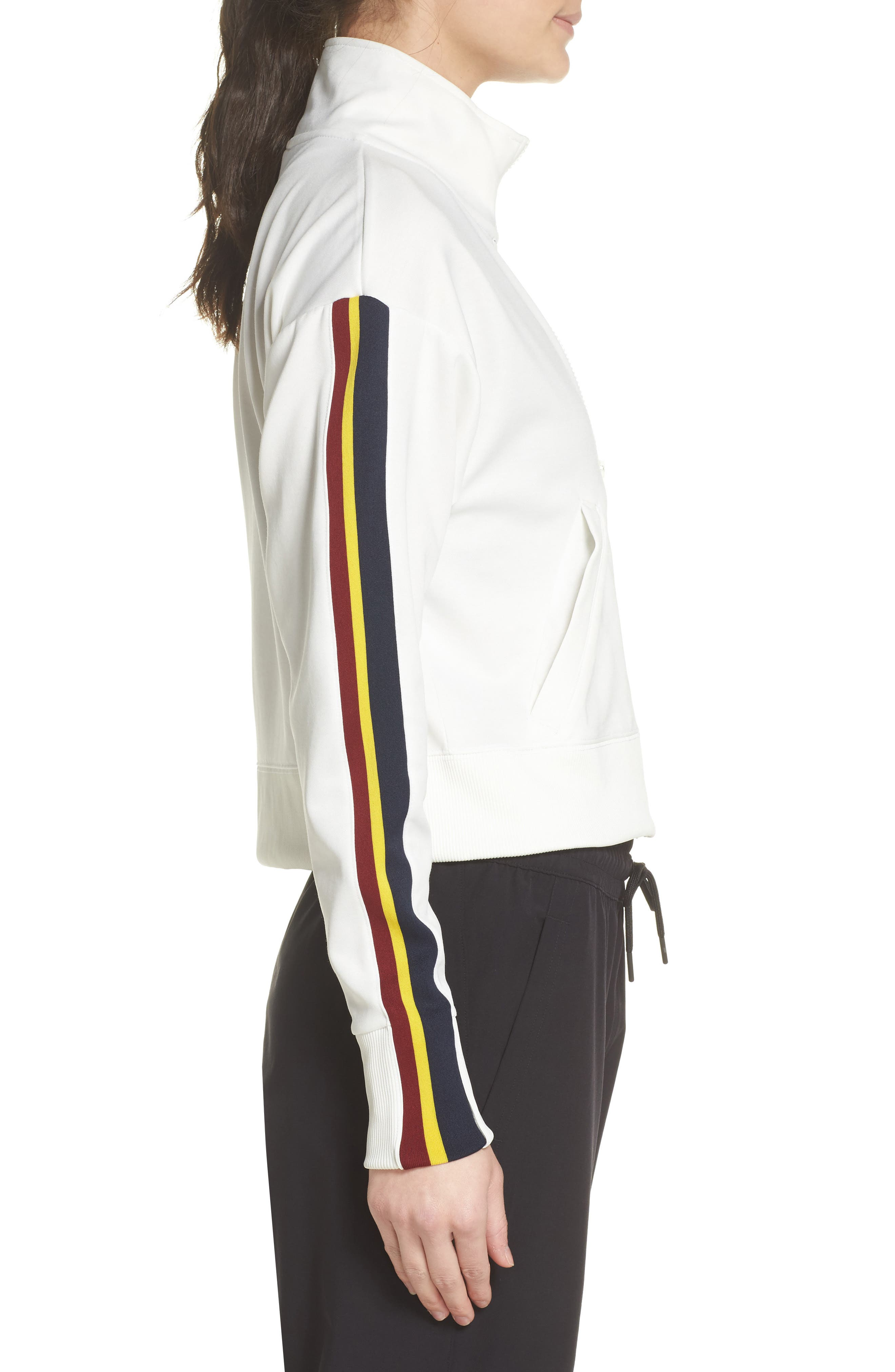 Sportswear Crop Jacket,                             Alternate thumbnail 3, color,                             Sail/ Team Red