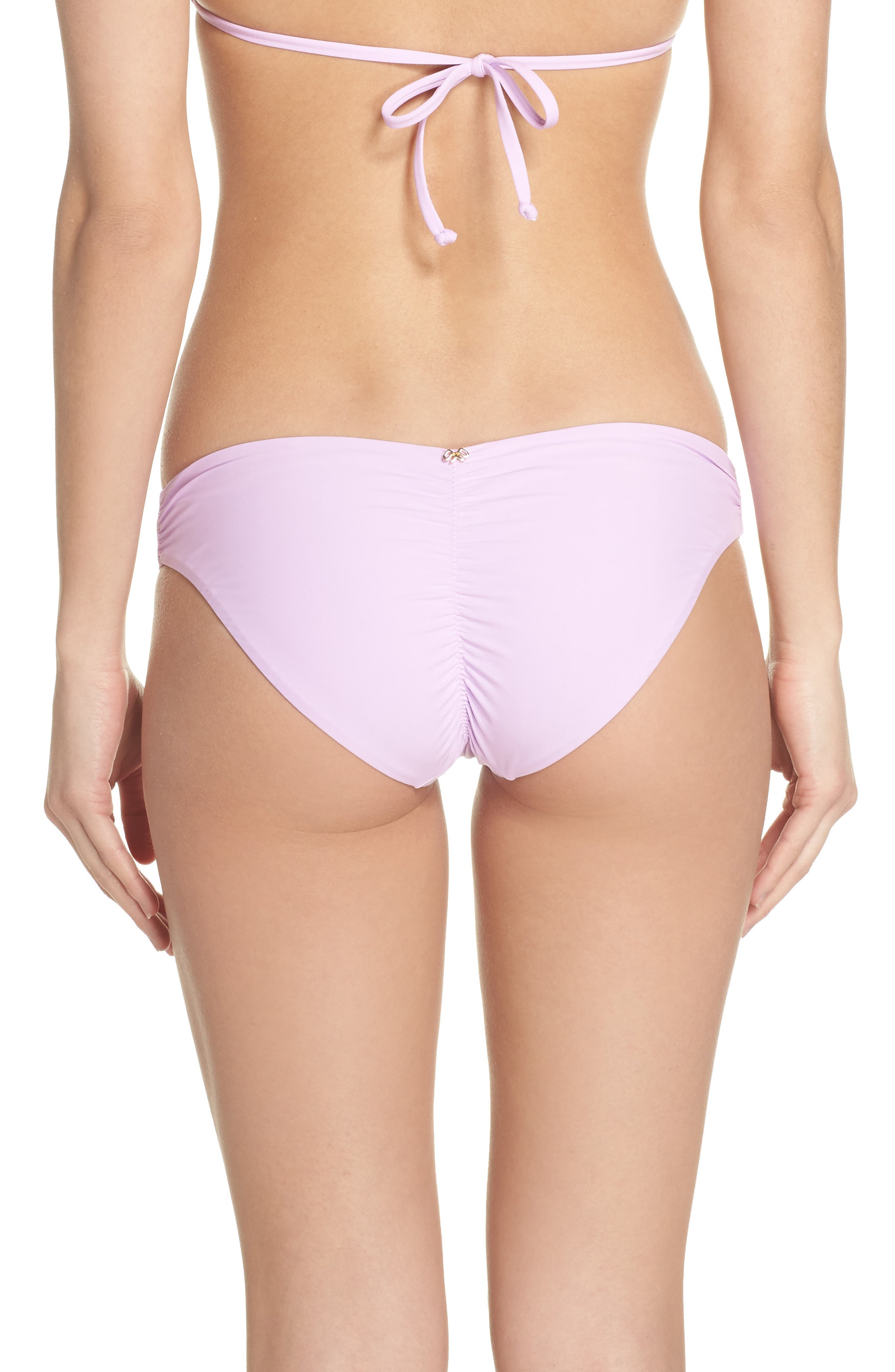 Ruched Bikini Bottoms,                             Alternate thumbnail 2, color,                             Lilac
