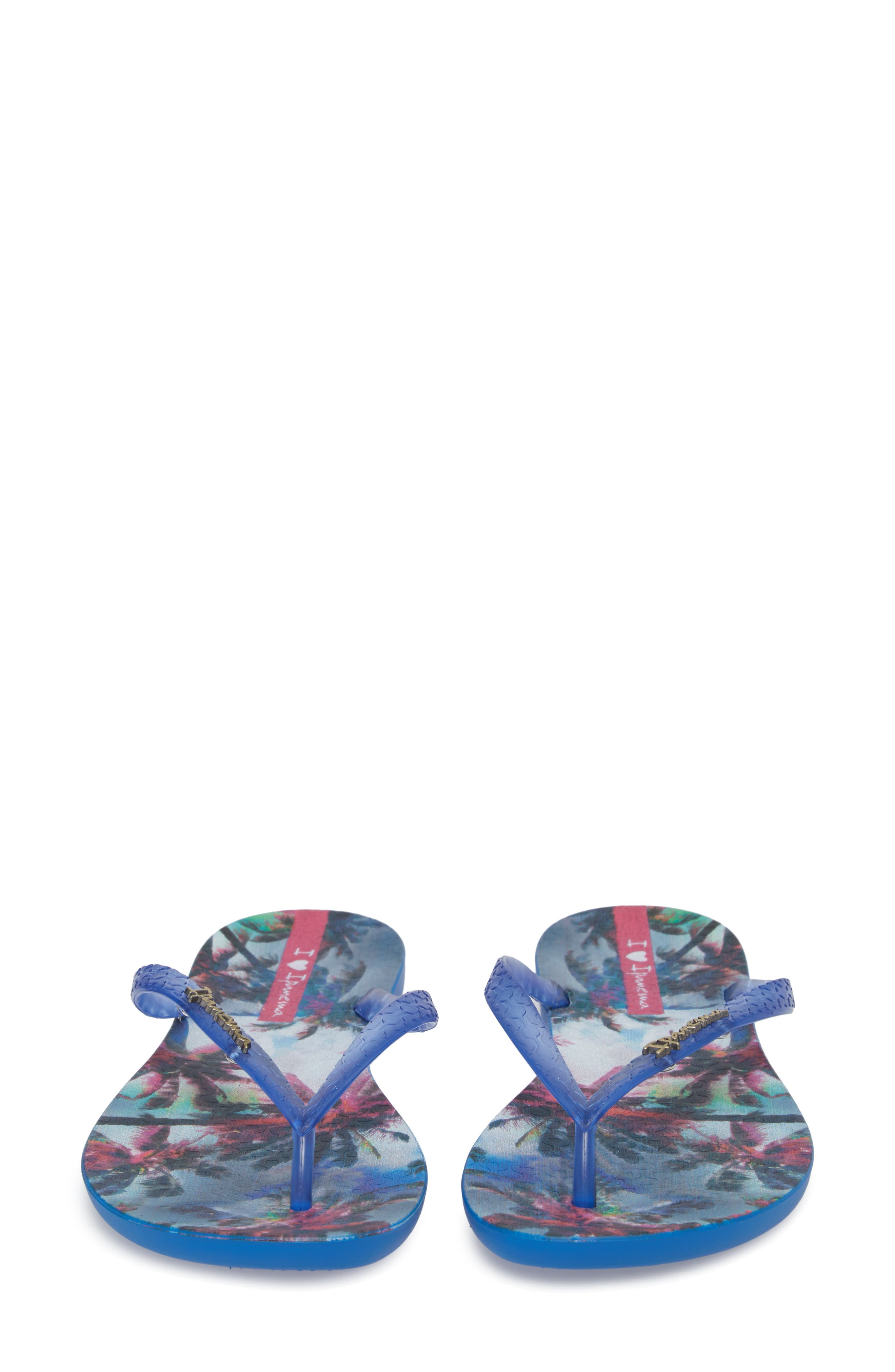 Wave Vista Print Flip-Flop,                             Alternate thumbnail 5, color,                             Blue