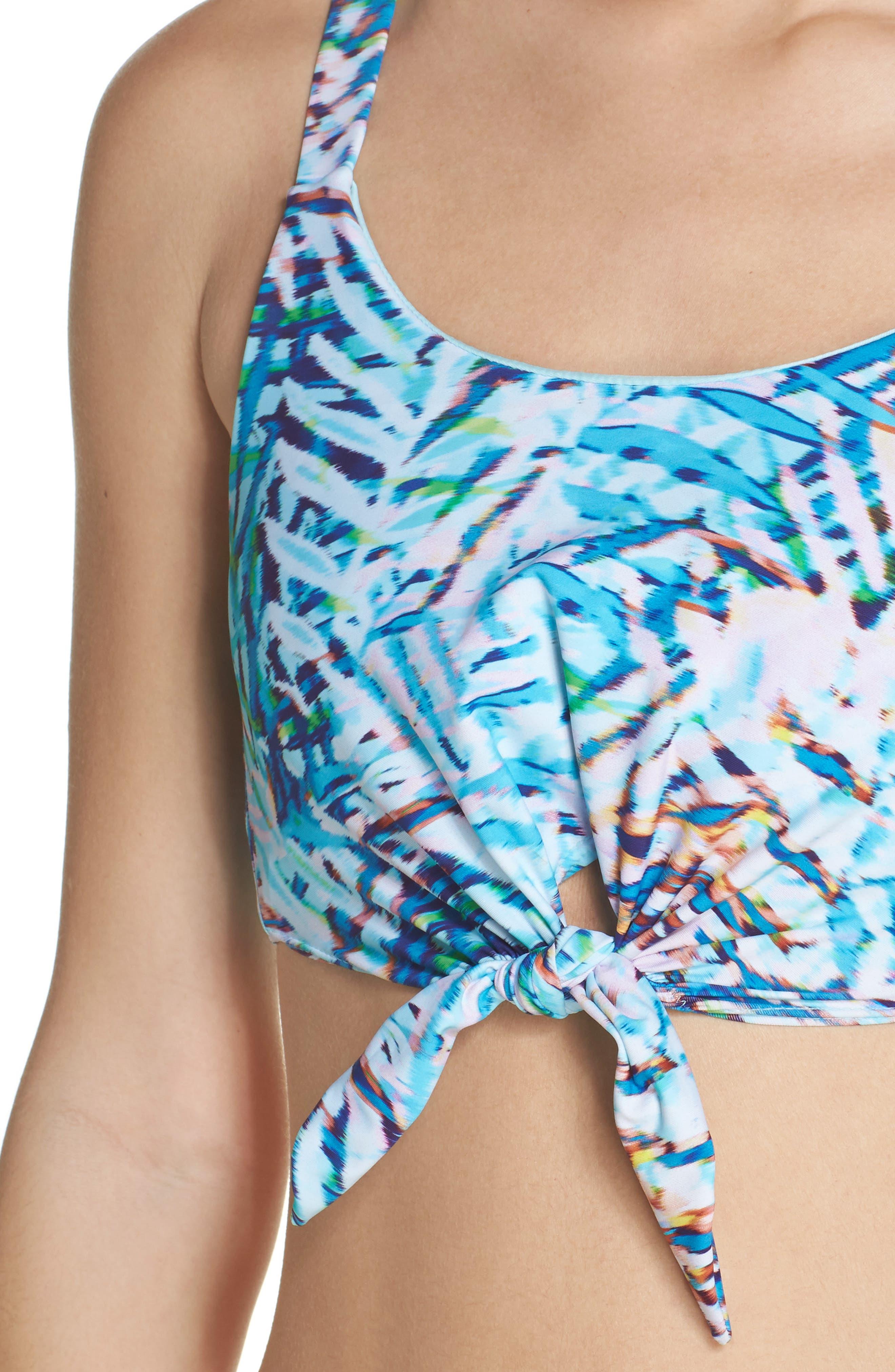 Knot Bikini Top,                             Alternate thumbnail 5, color,                             Palma