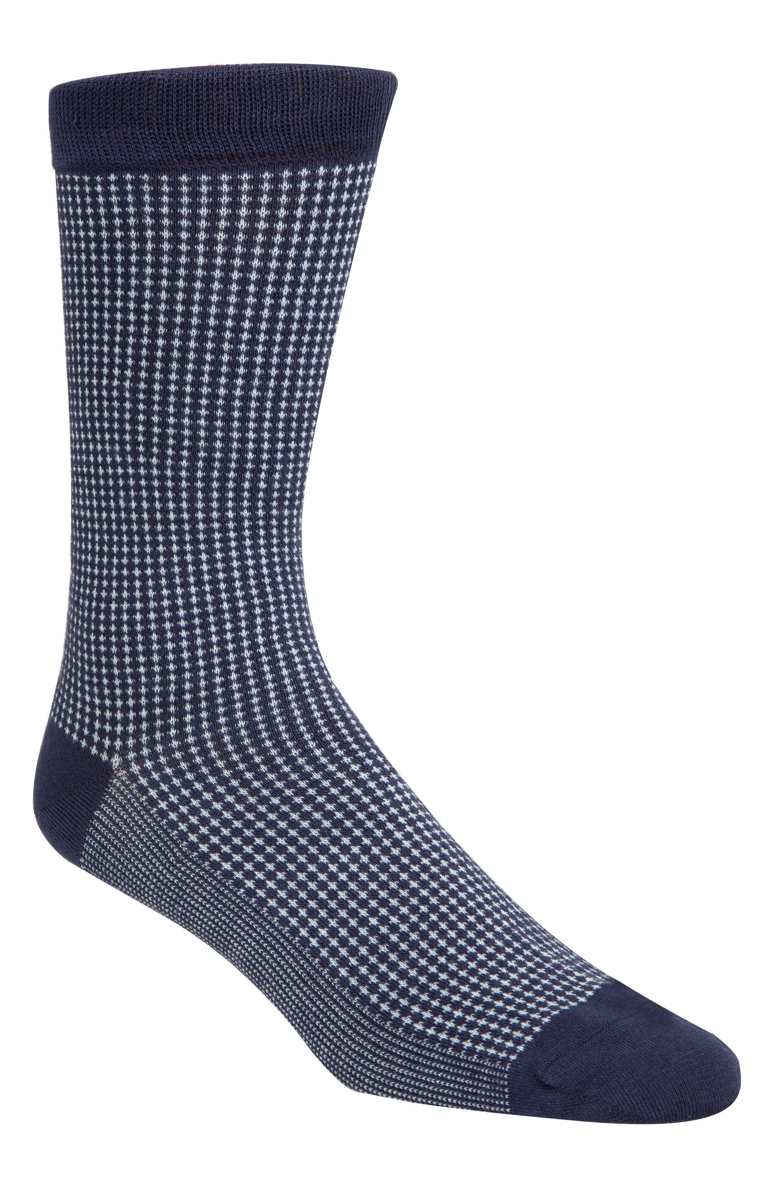 Check Socks,                             Main thumbnail 1, color,                             Marine Blue