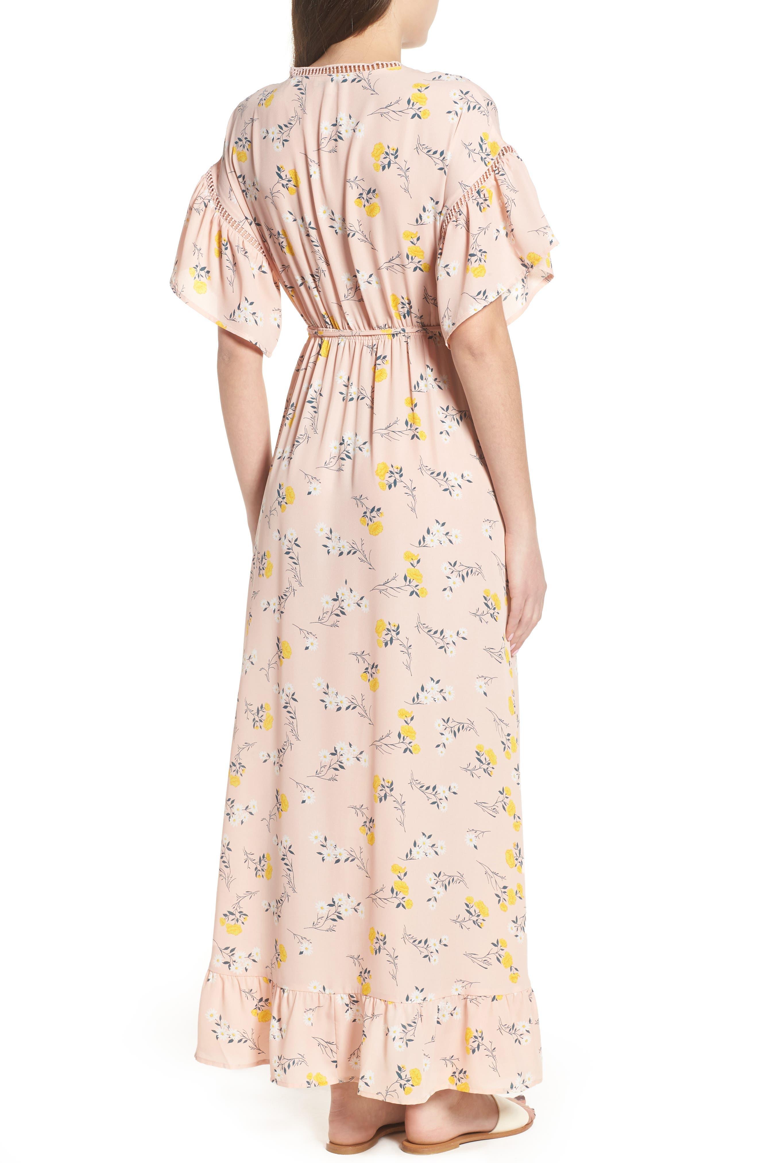 Alternate Image 2  - MOON RIVER Romance Floral Wrap Style Dress