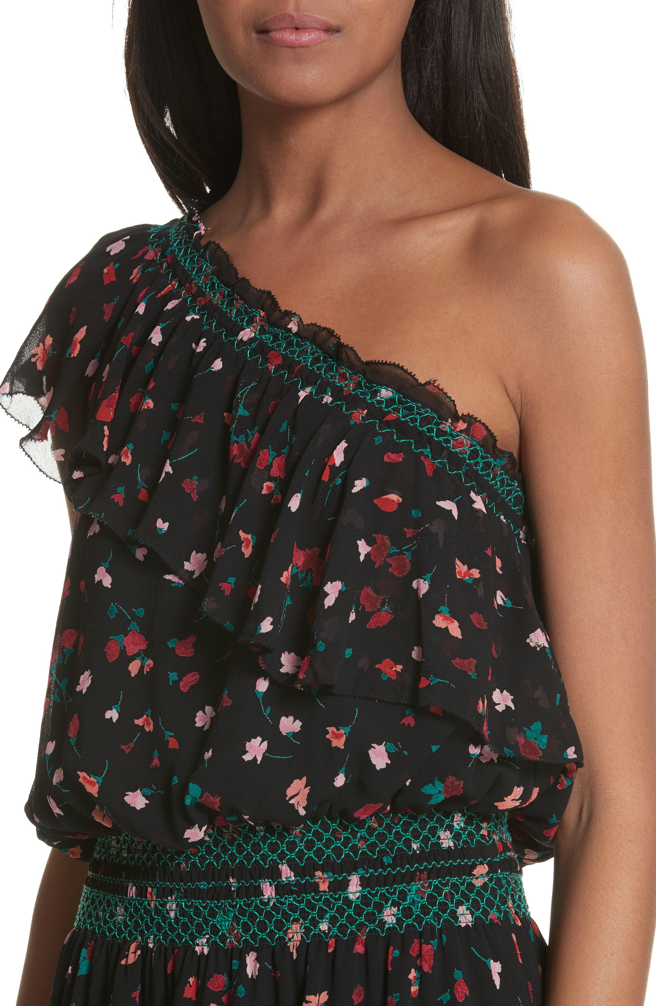 Alternate Image 4  - Joie Hafsa One-Shoulder Print Silk Dress