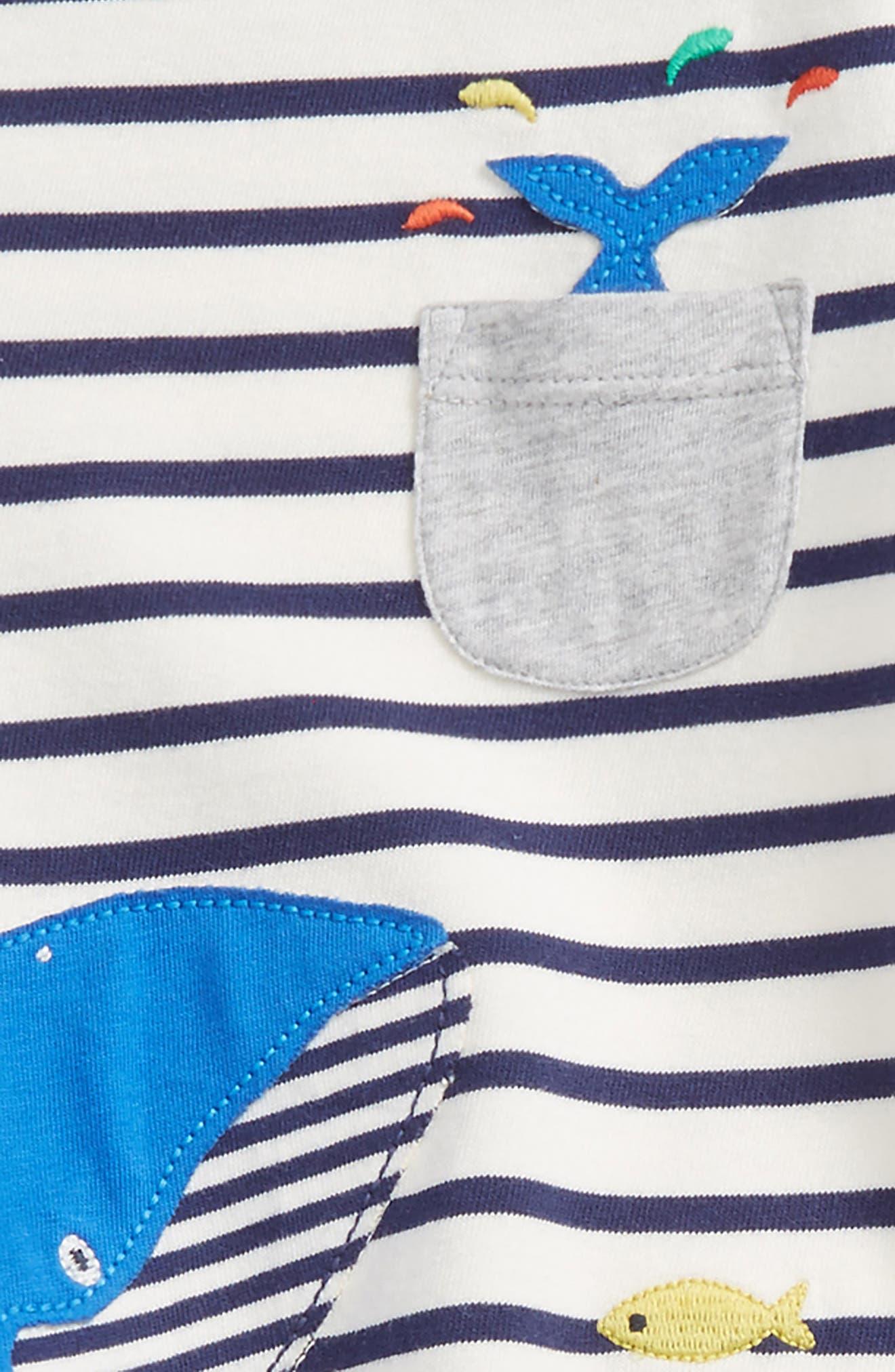 Fun Pocket Top & Pants Set,                             Alternate thumbnail 2, color,                             Ecru/ Beacon Blue