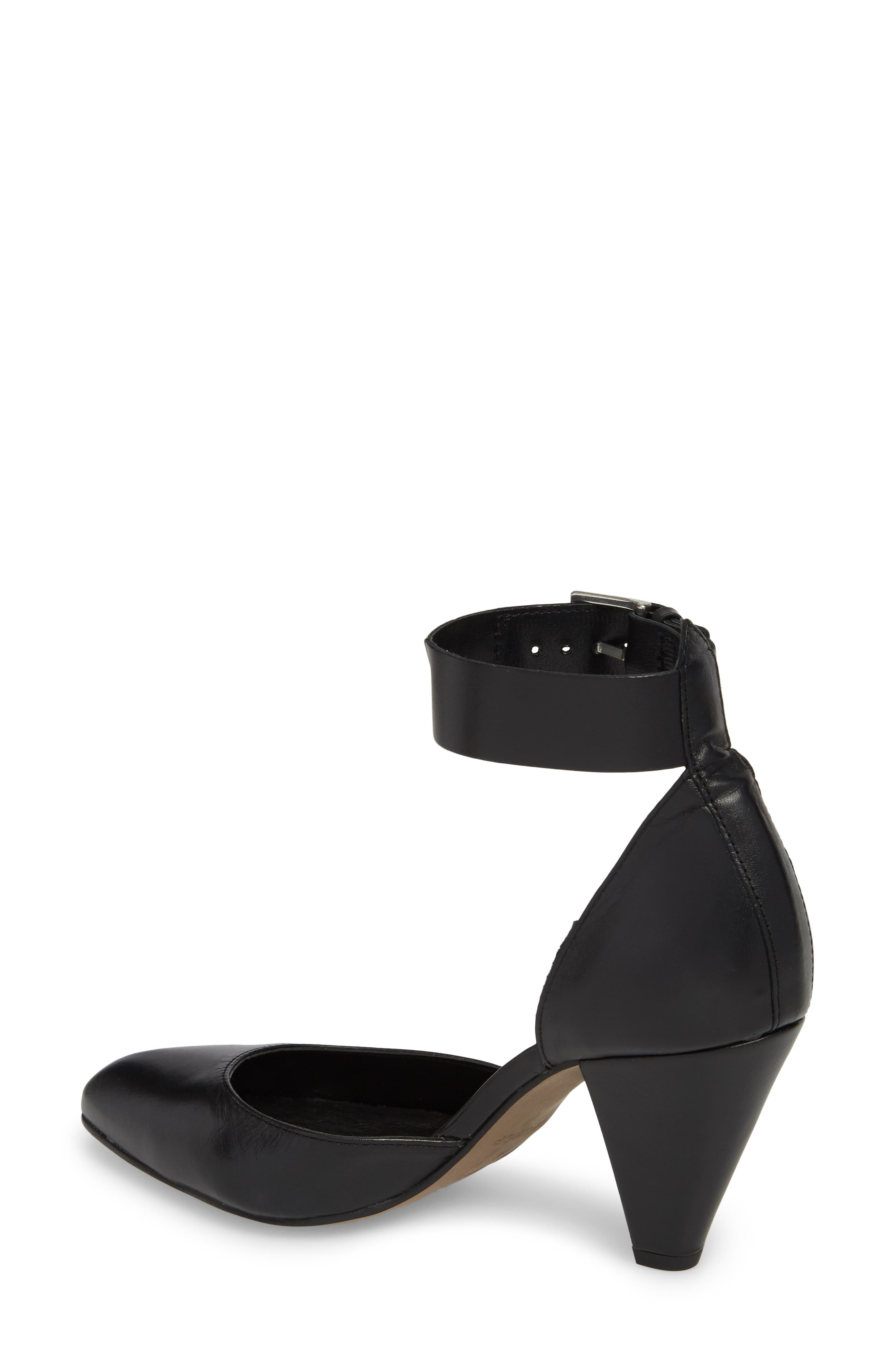 Jazzie Ankle Strap d'Orsay Pump,                             Alternate thumbnail 2, color,                             Black