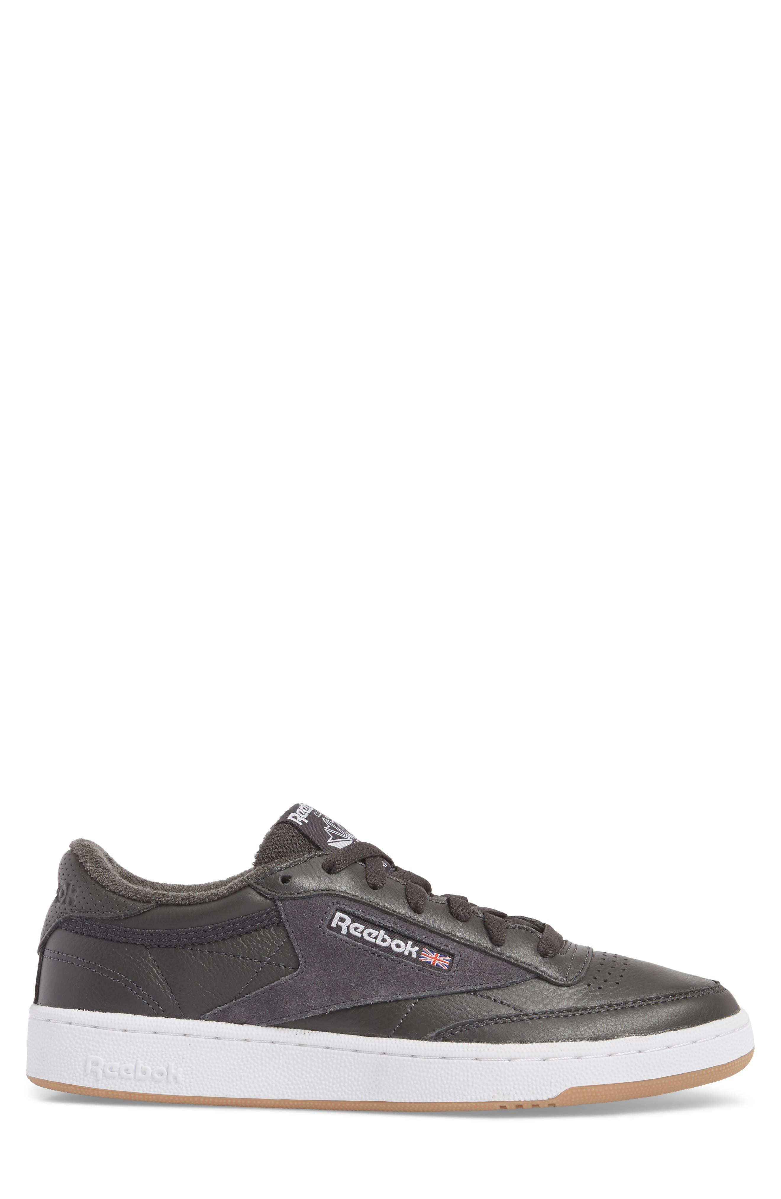 Club C 85 ESTL Sneaker,                             Alternate thumbnail 3, color,                             Coal/ White/ Washed Blue