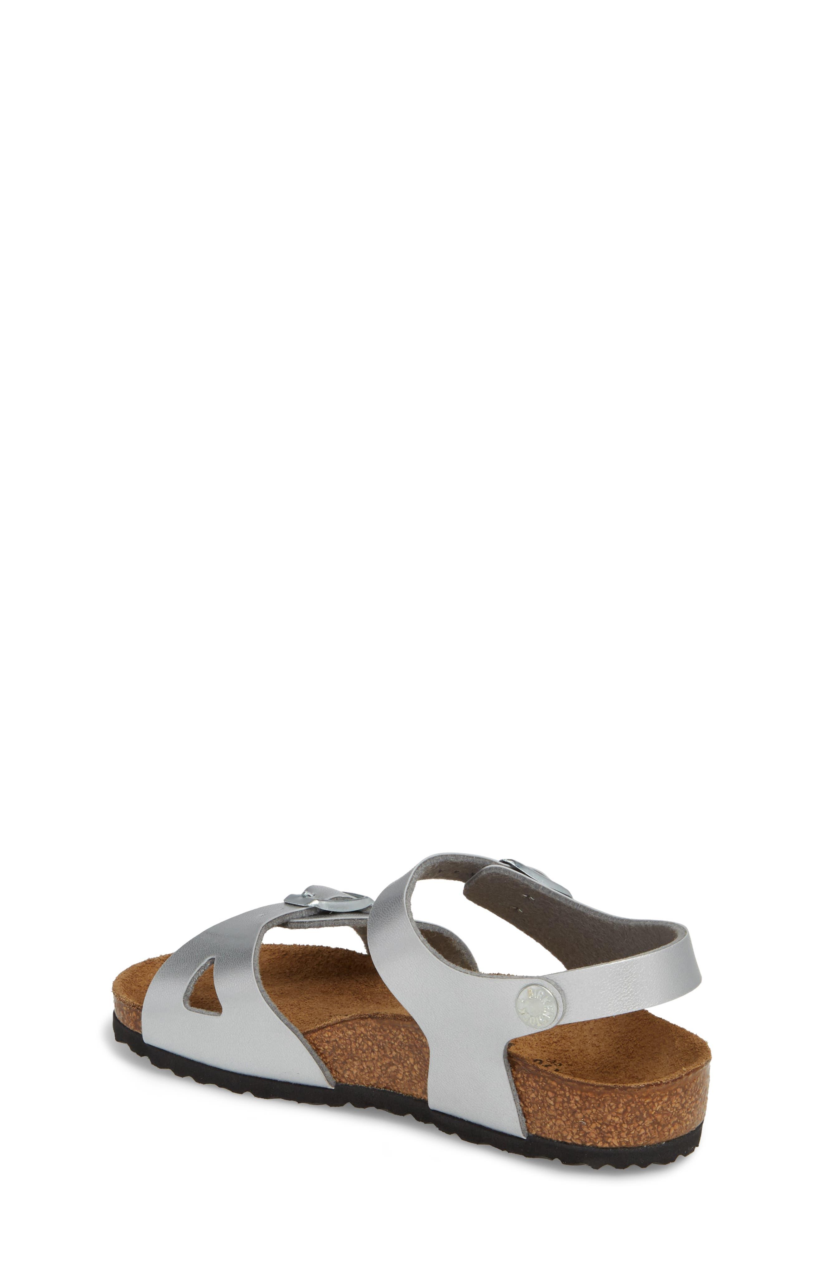 Rio Metallic Sandal,                             Alternate thumbnail 2, color,                             Silver