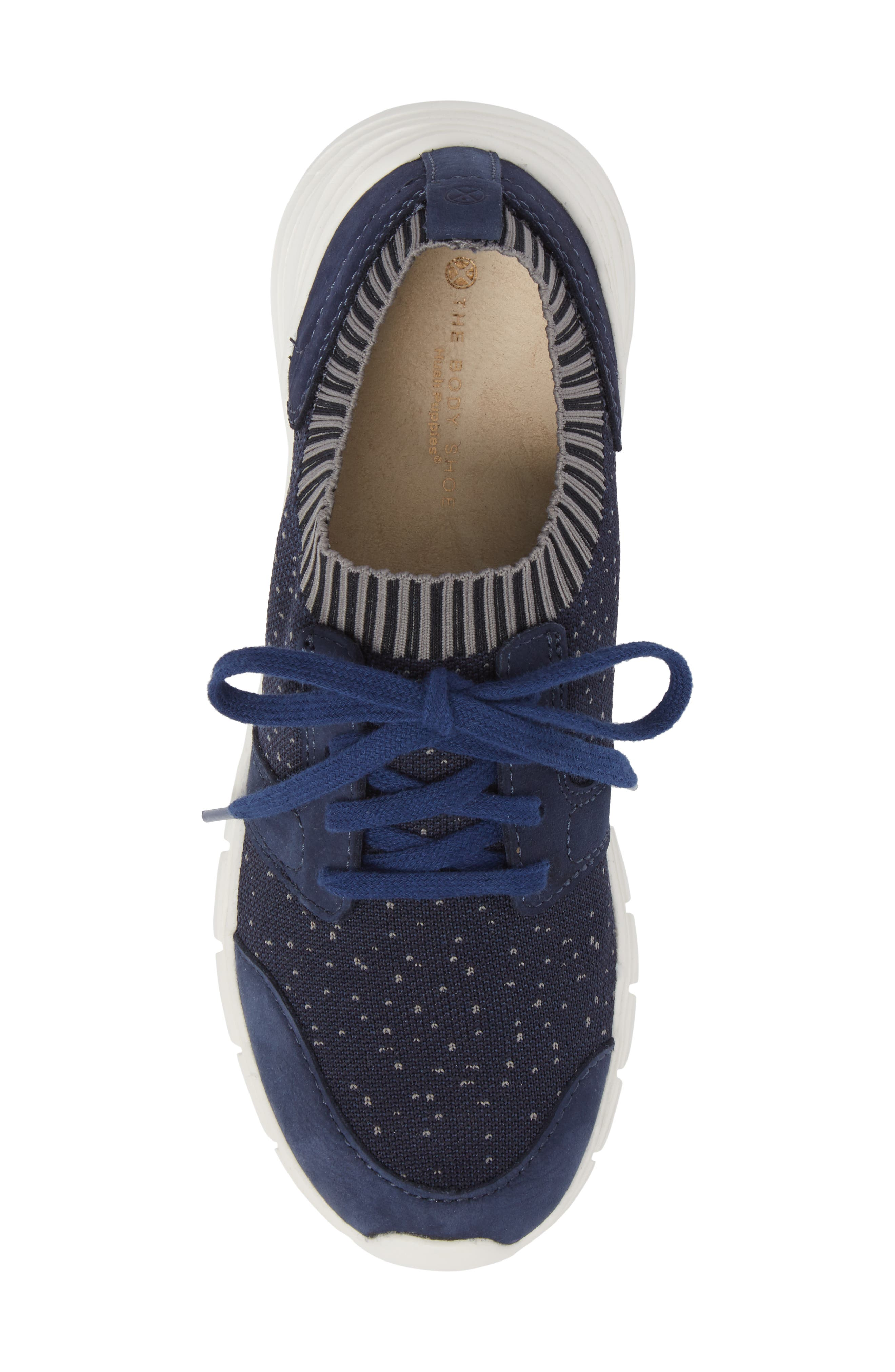 Cypress Knit Sneaker,                             Alternate thumbnail 5, color,                             Royal Navy Fabric