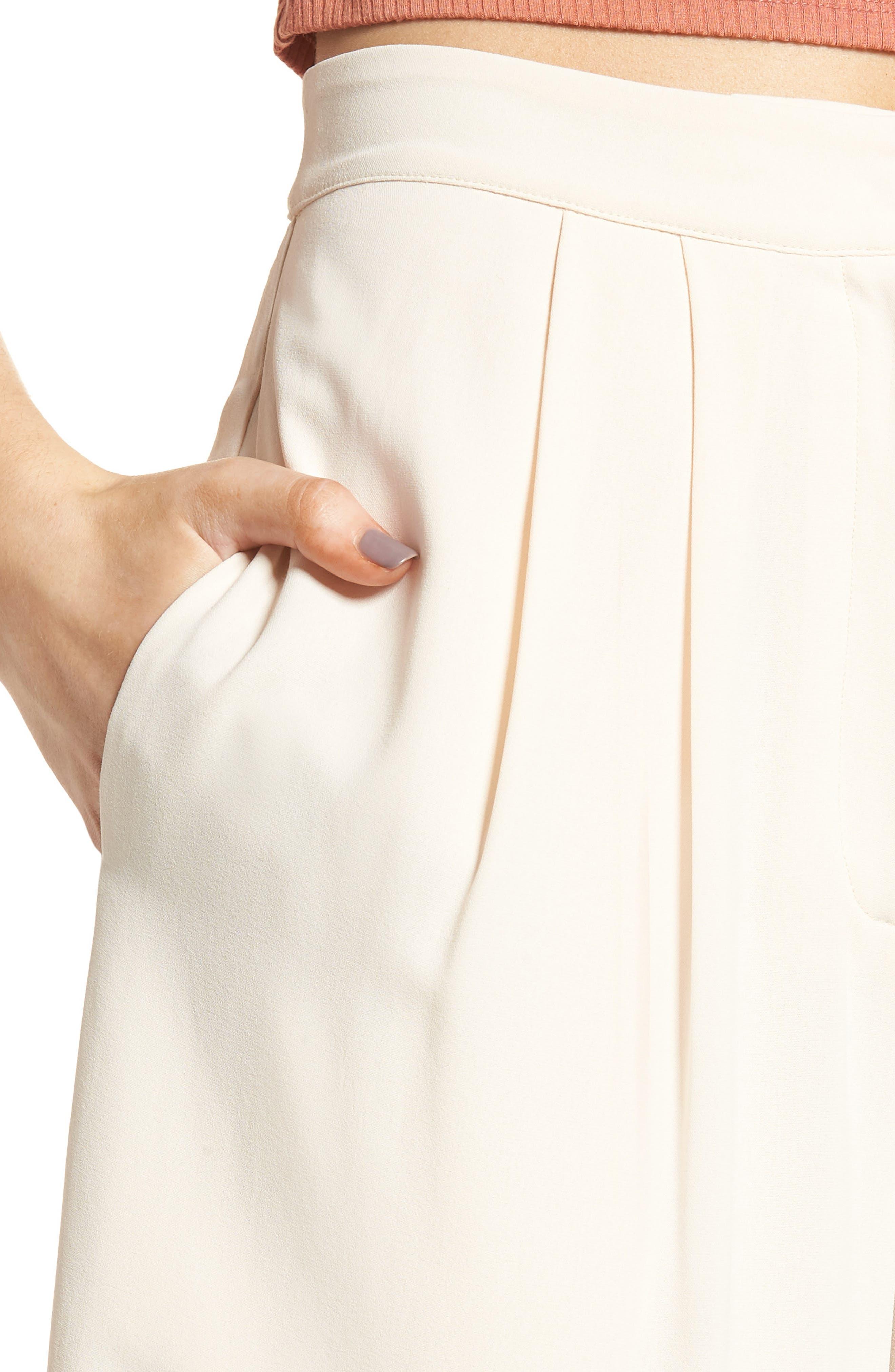 Alternate Image 7  - Chriselle x J.O.A. Pleat High Waist Crop Wide Leg Pants