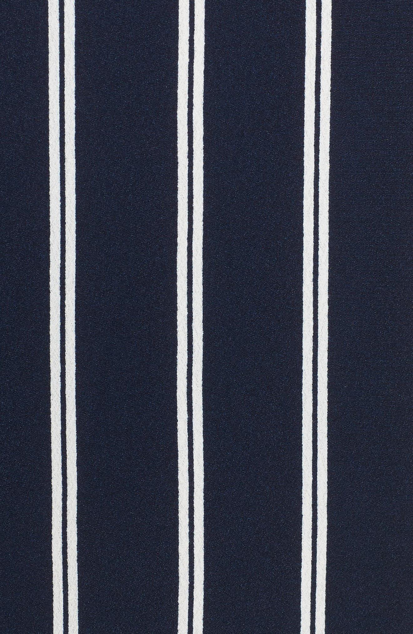 Stripe Plaza Dress,                             Alternate thumbnail 5, color,                             Double Deep Navy